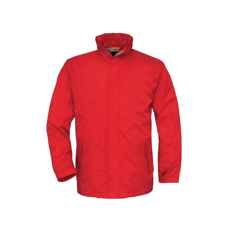B&C Mens Ocean Shore Waterproof Hooded Fleece Lined Jacket (XL) (Red)