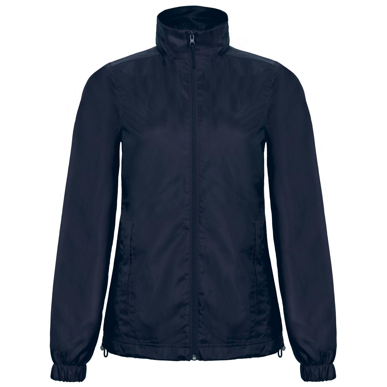 B&C Womens/Ladies ID.601 Hooded Showerproof Windbreaker Jacket (M) (Orange)