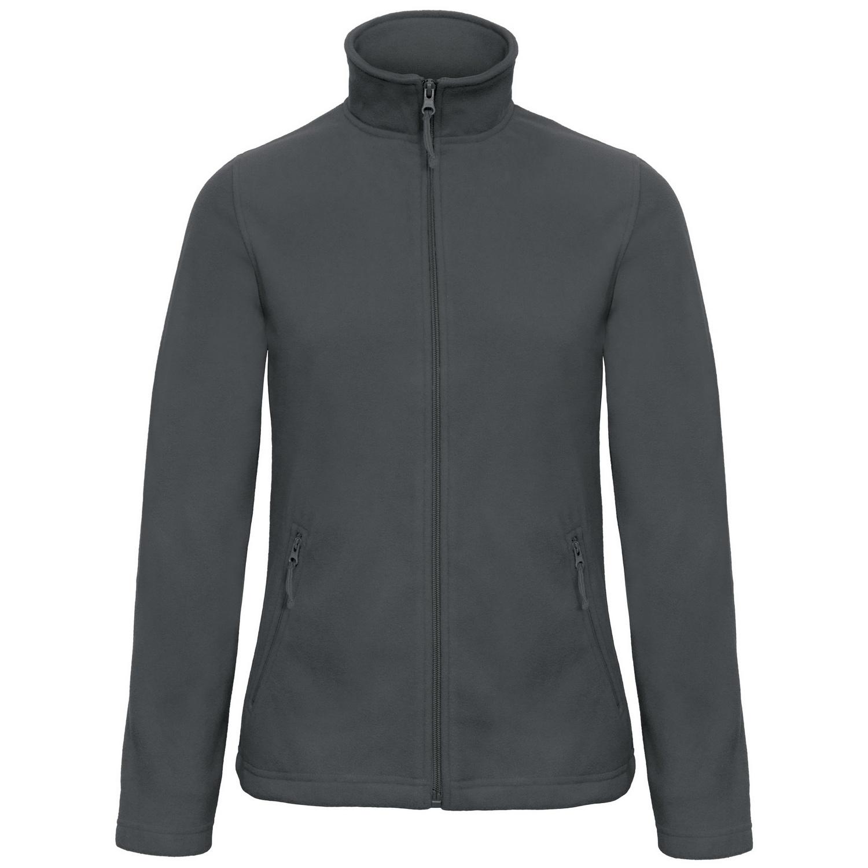 B&C Collection Womens/Ladies ID 501 Microfleece Jacket (3XL) (Dark Grey)
