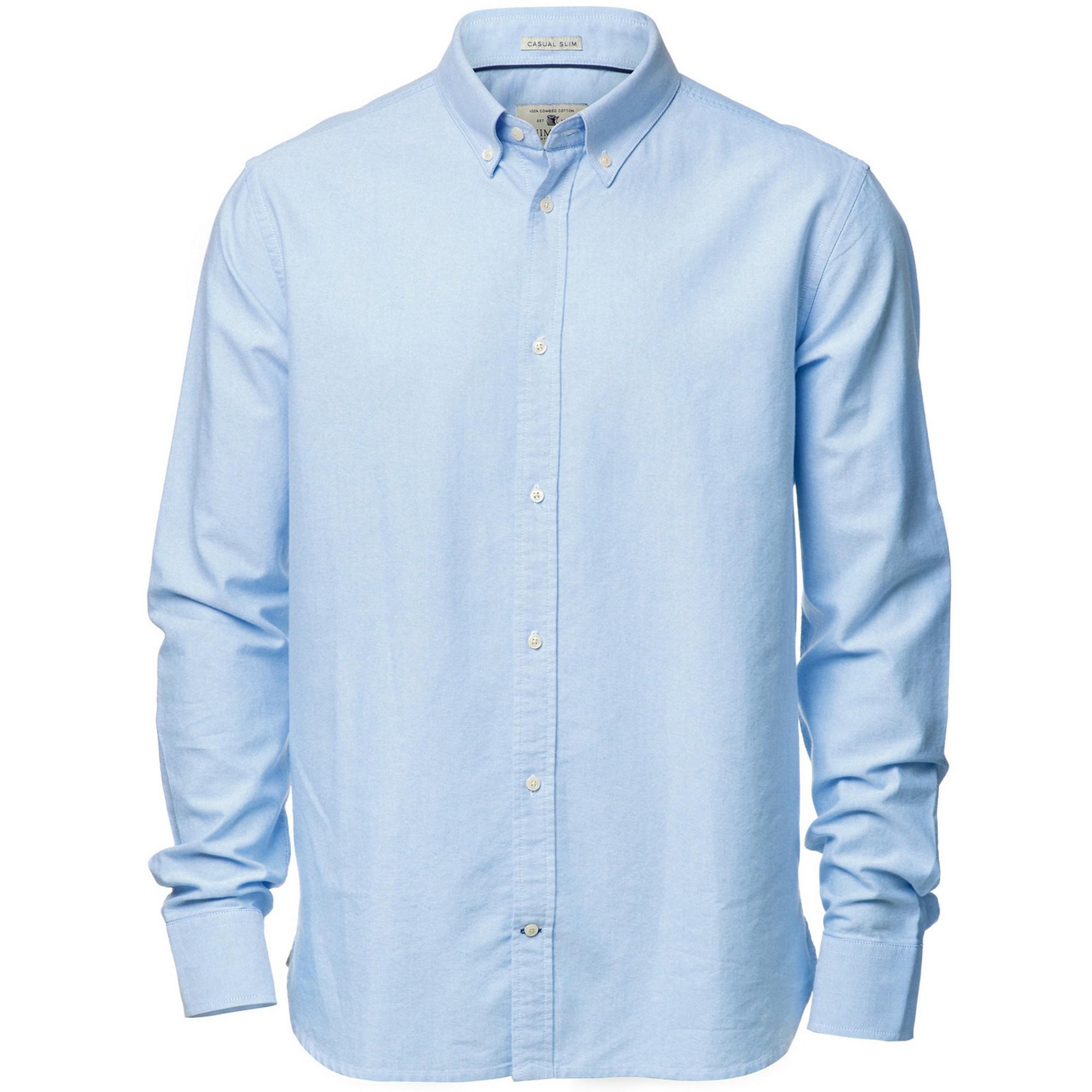 Nimbus Mens Rochester Oxford Long Sleeve Formal Shirt (L) (Light Blue)
