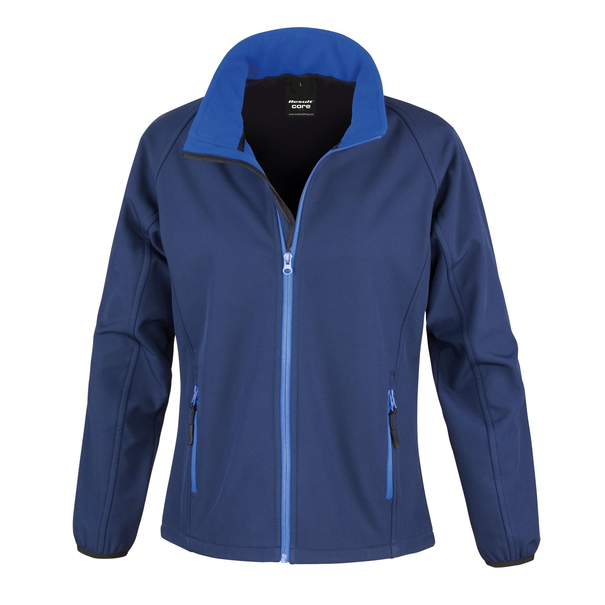 Result Womens/Ladies Core Printable Softshell Jacket (M) (Navy / Royal)