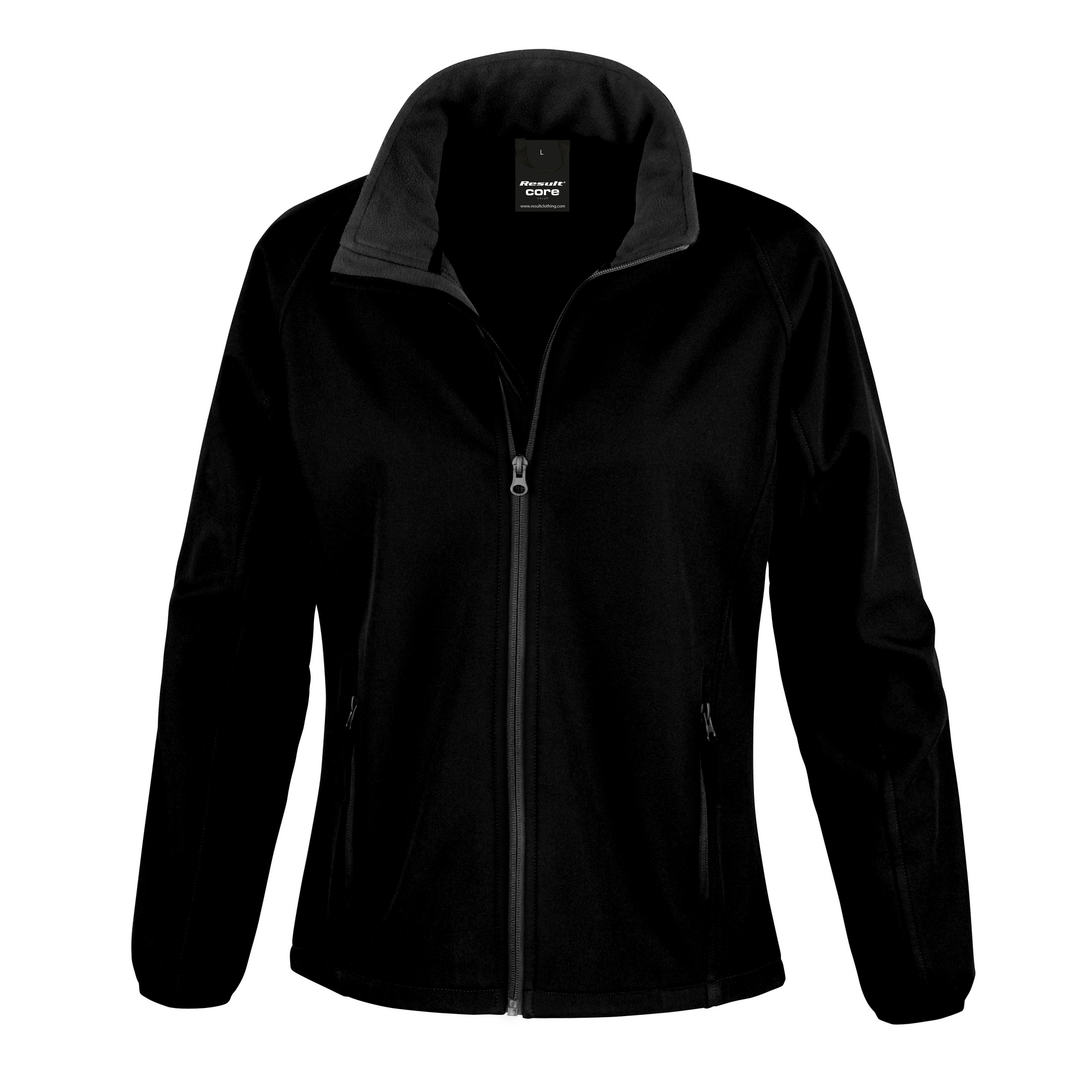 Result Mens Core Printable Softshell Jacket (M) (Black / Black)
