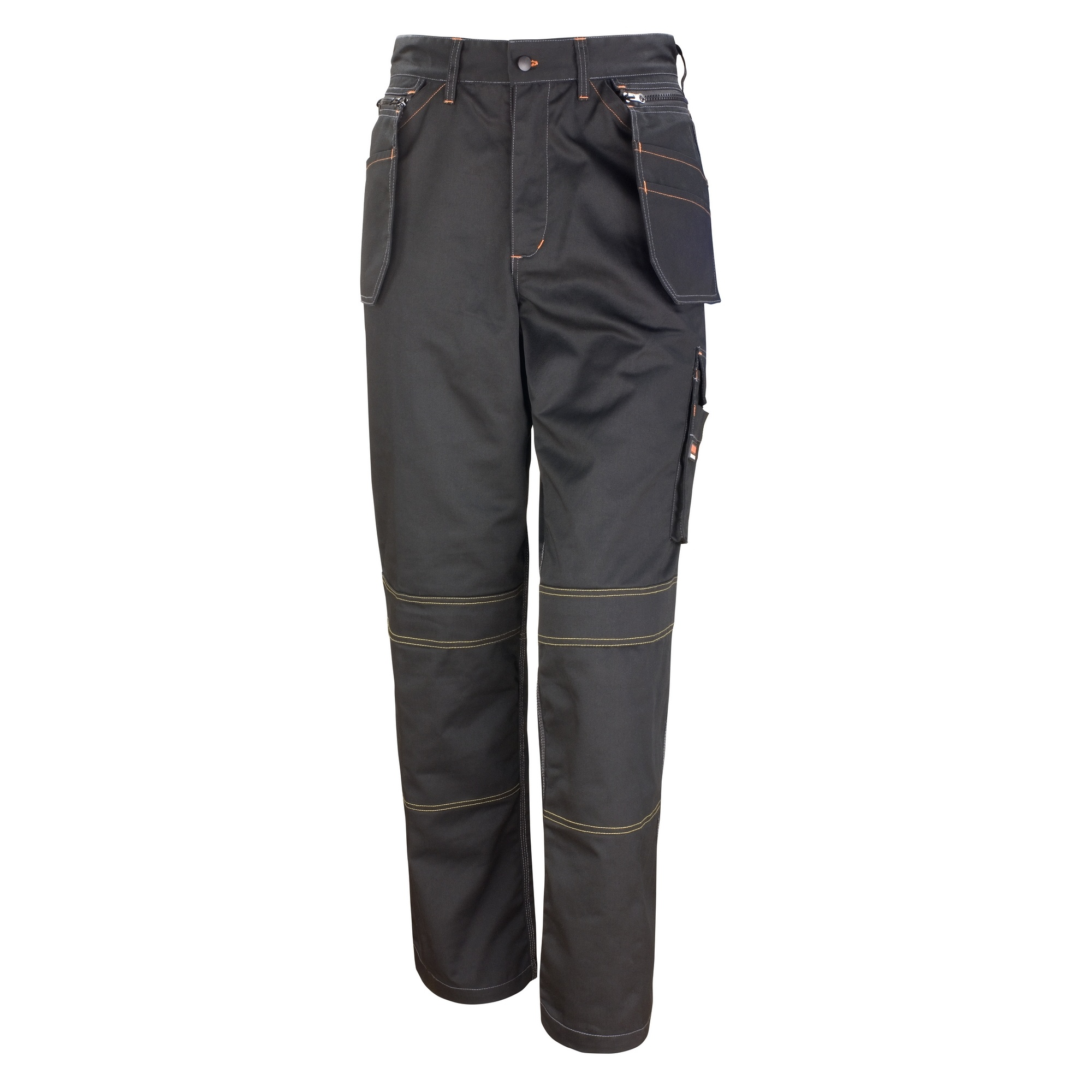 Result Unisex Work-Guard Lite X-Over Holster Workwear Trousers (Breathable And Windproof) (S) (Black)