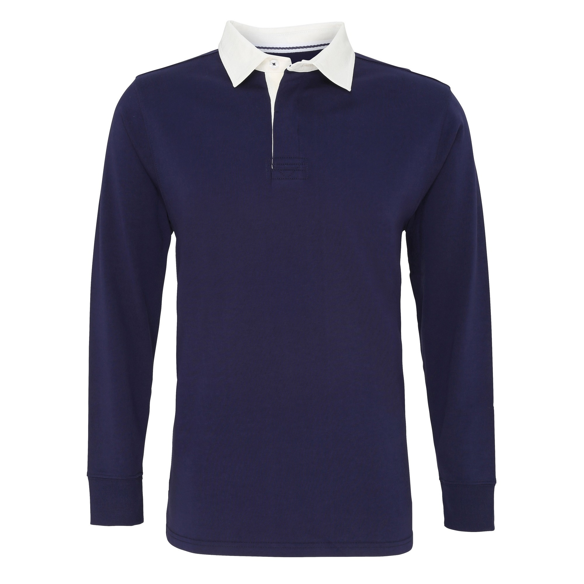 Asquith & Fox Mens Classic Fit Long Sleeve Vintage Rugby Shirt (M) (White)