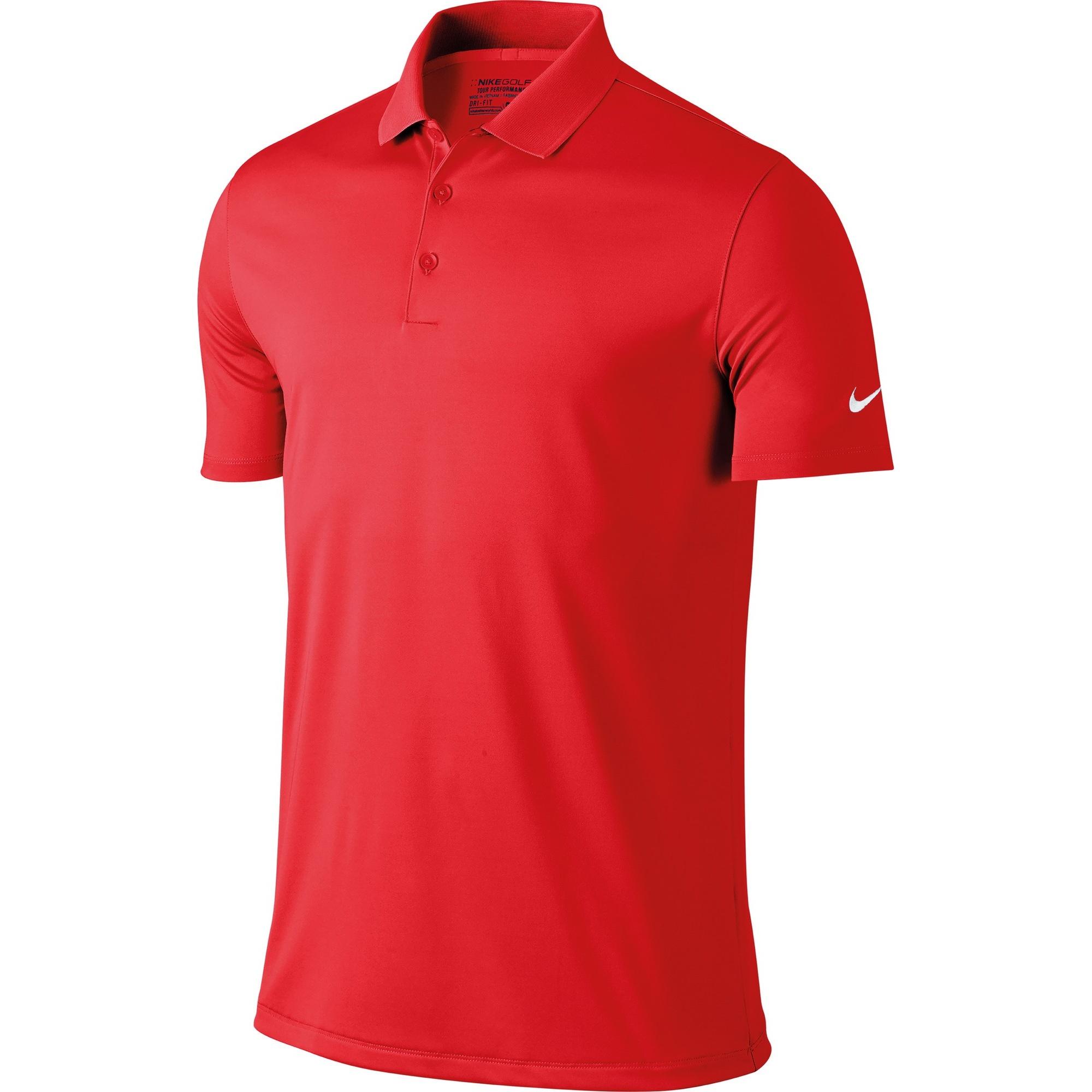 Nike Mens Victory Short Sleeve Solid Polo Shirt (S) (Team Orange)