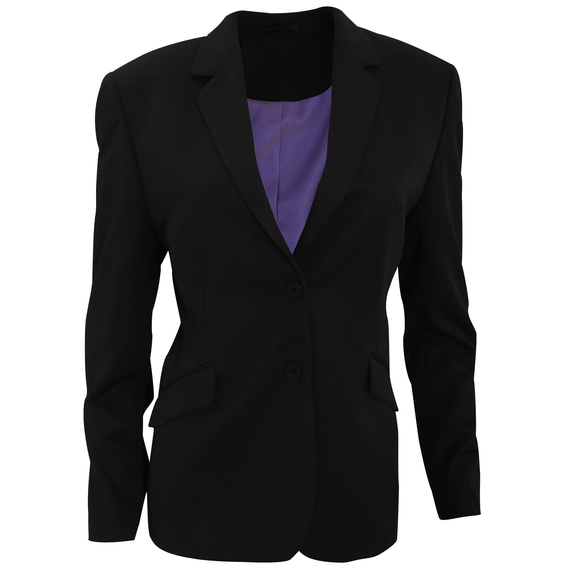 Brook Taverner Womens/Ladies Hebe Formal Suit Jacket (14R) (Black)