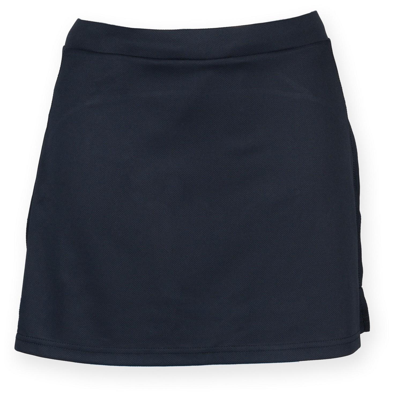 Finden & Hales Womens/Ladies Sports Skort With Moisture Wicking Finish (S) (Navy)