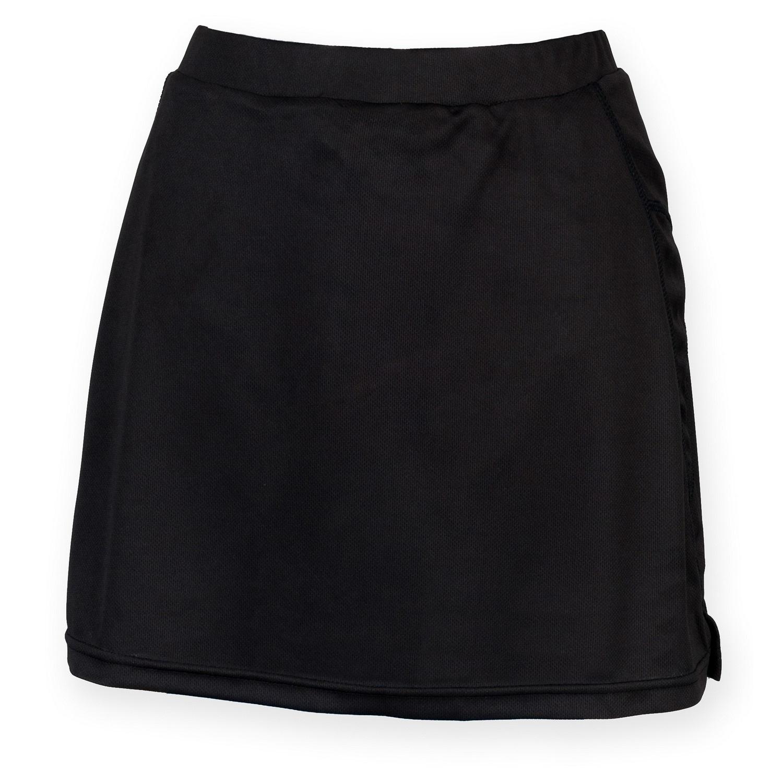 Finden & Hales Womens/Ladies Sports Skort With Moisture Wicking Finish (M) (Black)