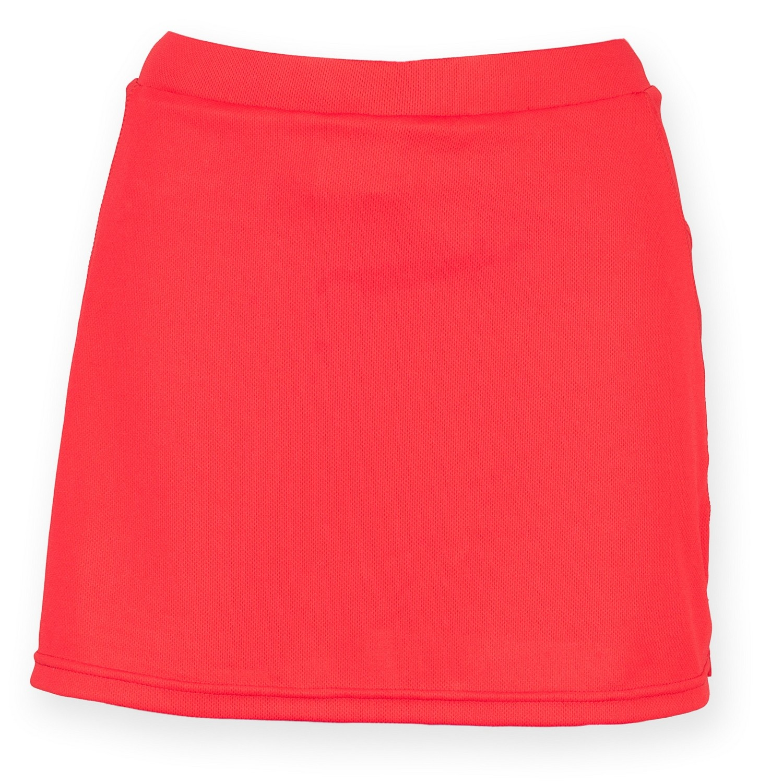 Finden & Hales Womens/Ladies Sports Skort With Moisture Wicking Finish (XS) (Red)