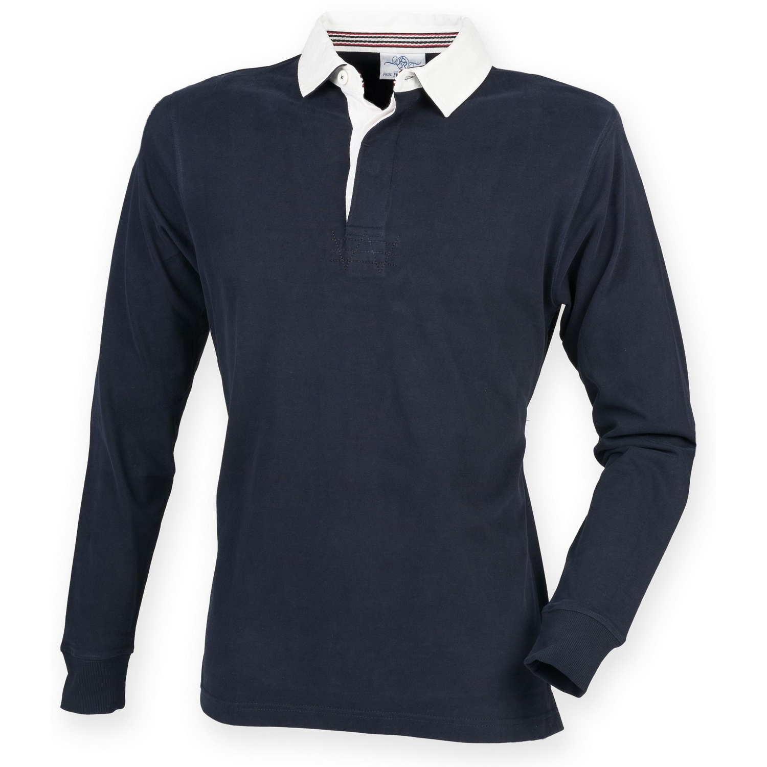 Front Row Mens Premium Long Sleeve Rugby Shirt/Top (XL) (Navy)