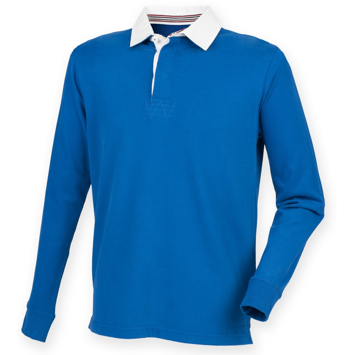 Front Row Mens Premium Long Sleeve Rugby Shirt/Top (S) (Royal)