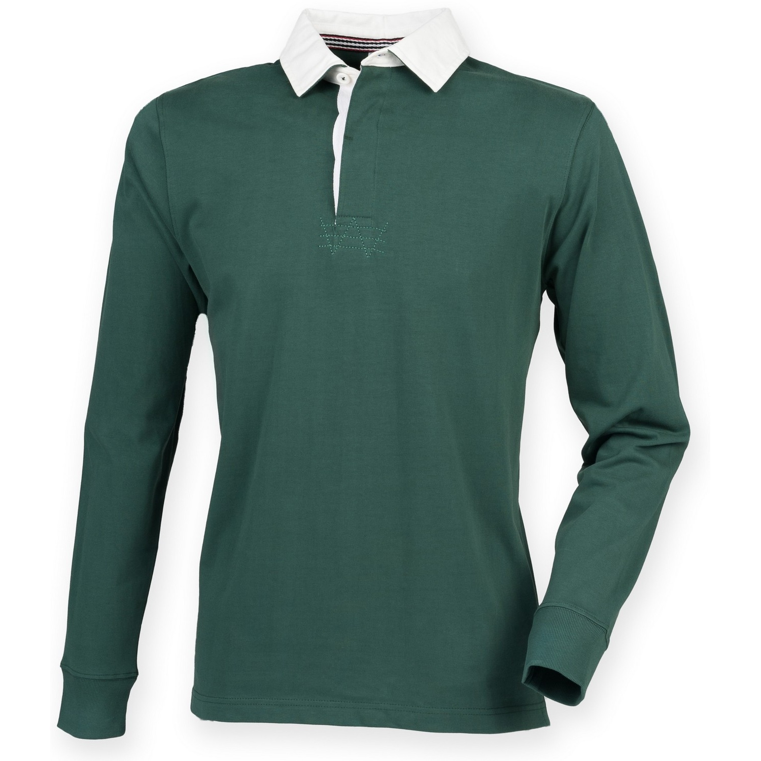 Front Row Mens Premium Long Sleeve Rugby Shirt/Top (M) (Bottle)