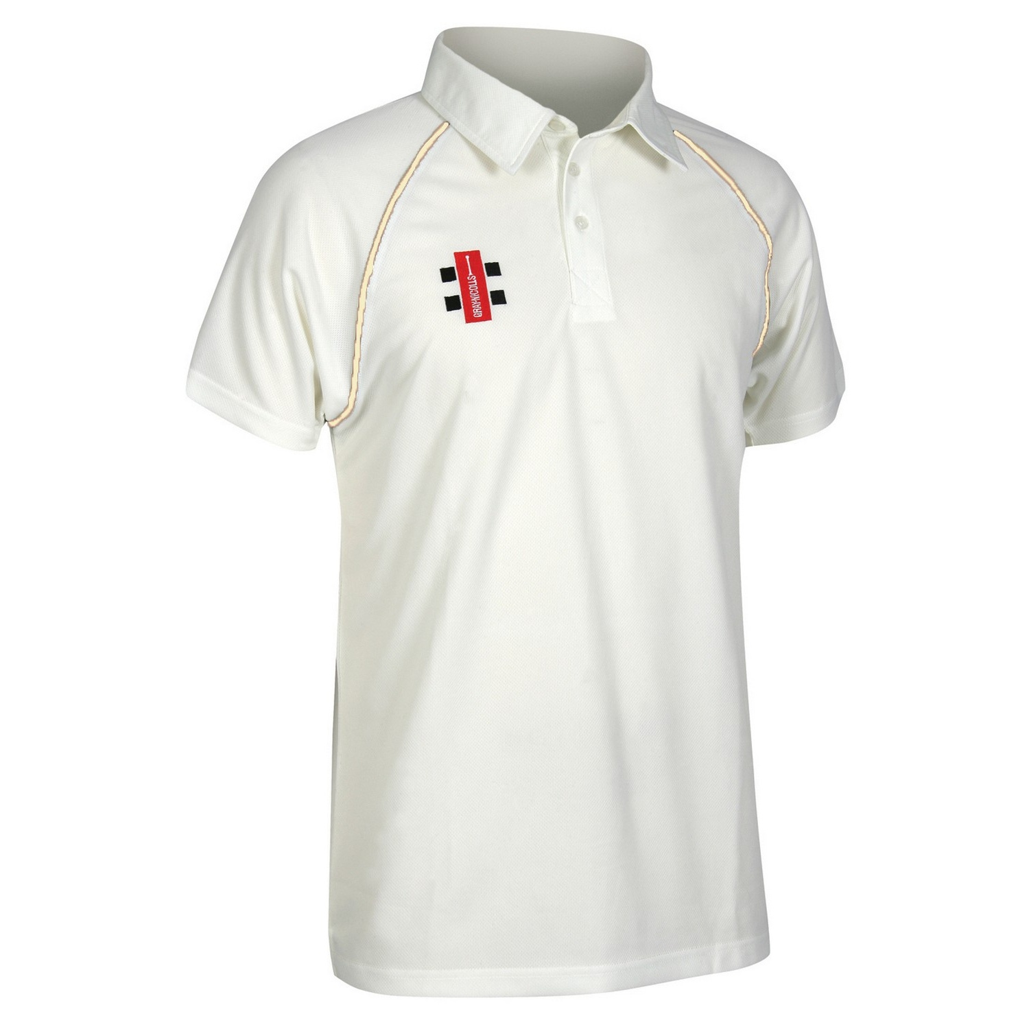 Gray-Nicolls Mens Matrix Short Sleeve Cricket Shirt (XS) (Ivory)