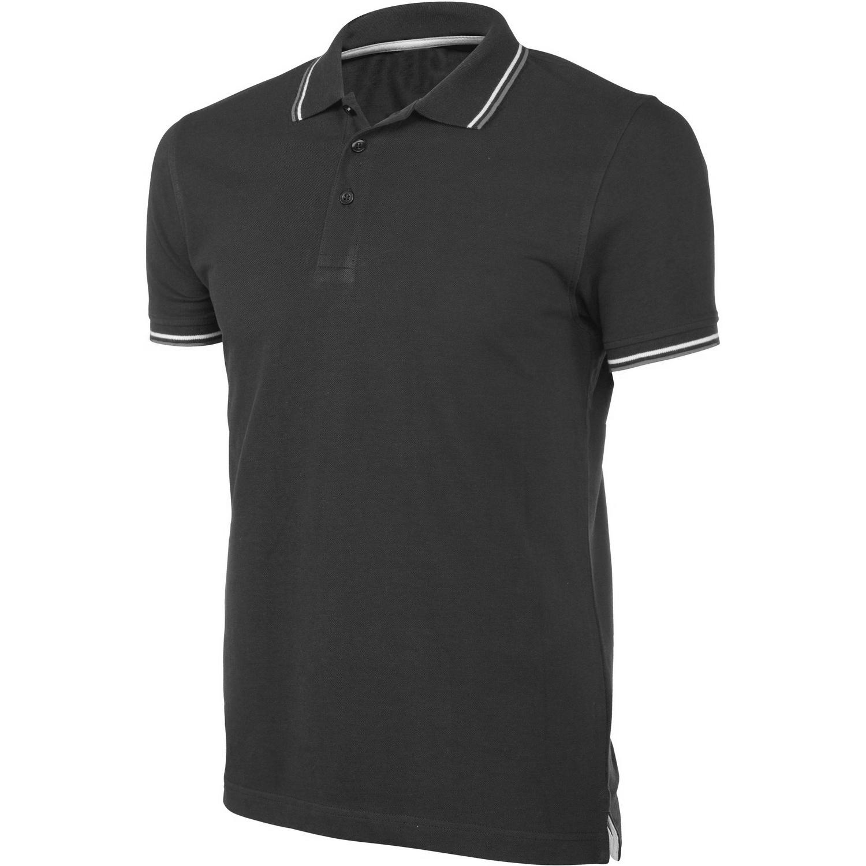 Kariban Mens Contrast Short Sleeve Polo Shirt (2XL) (Black)