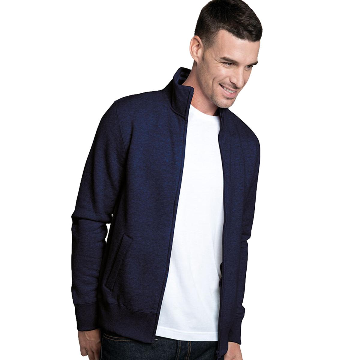 Kariban Mens Full Zip Fleece Jacket (2XL) (Black)