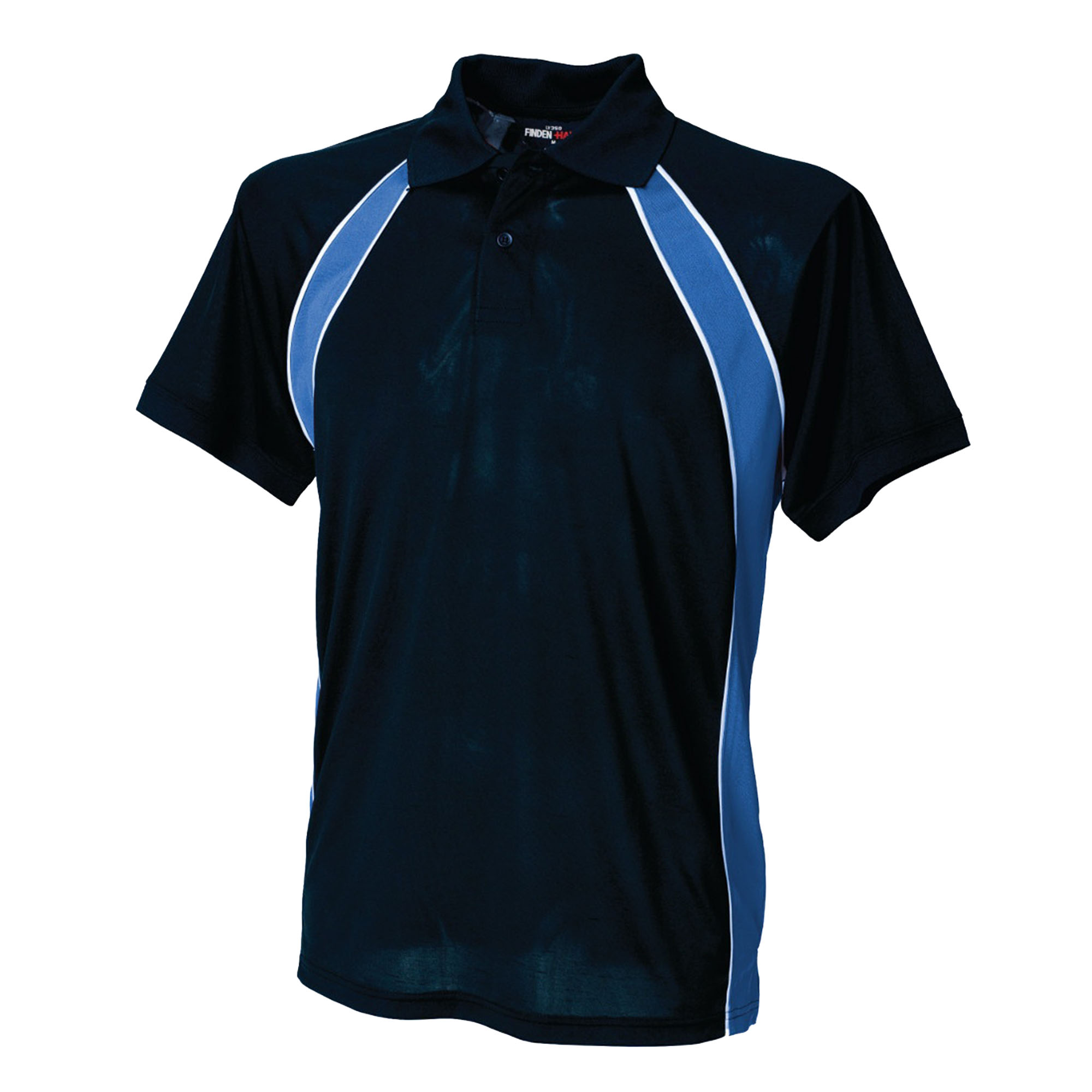 Finden & Hales Mens Jersey Team Sports Polo T-Shirt (XL) (Navy/Royal/White)