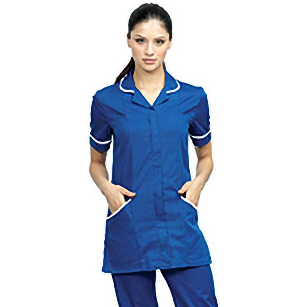 Premier Womens/Ladies Daisy Healthcare Work Tunic (16UK) (Navy/ White)