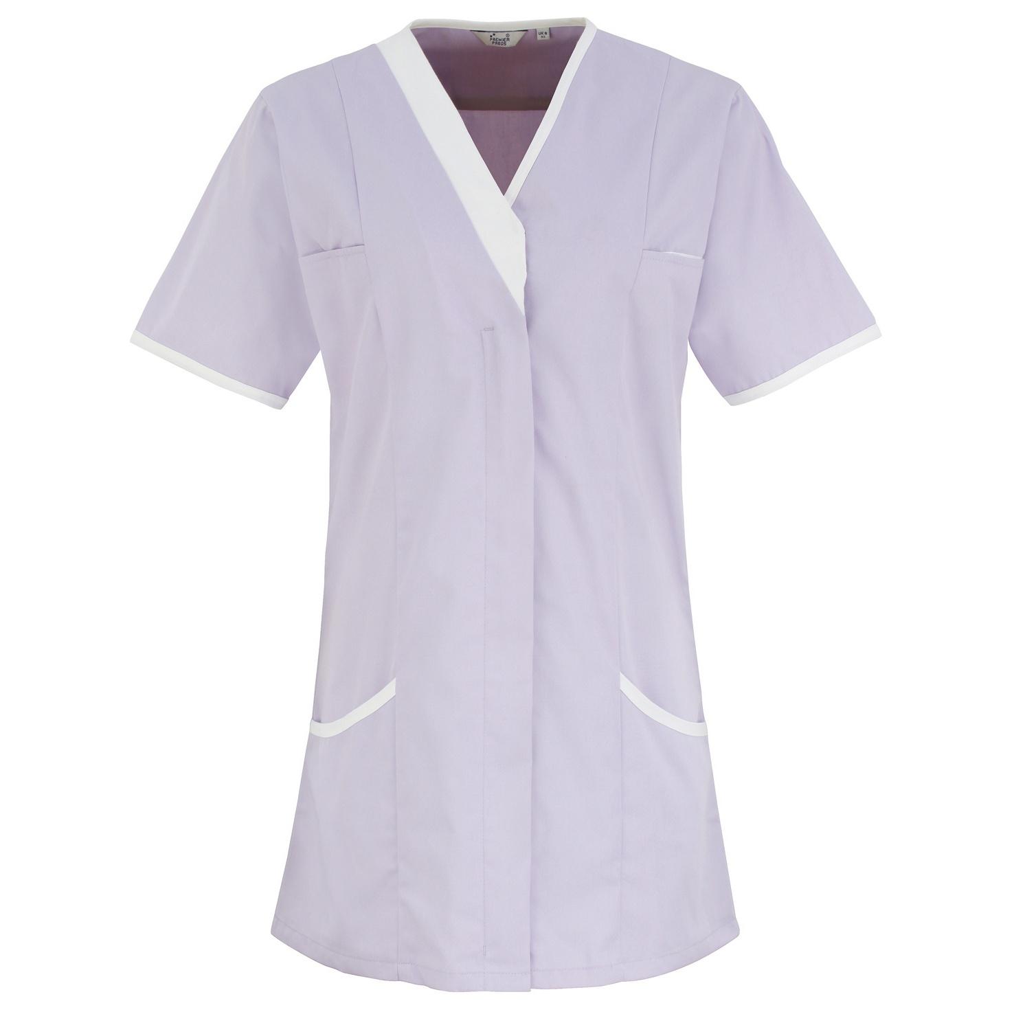 Premier Womens/Ladies Daisy Healthcare Work Tunic (10UK) (Lilac/ White)