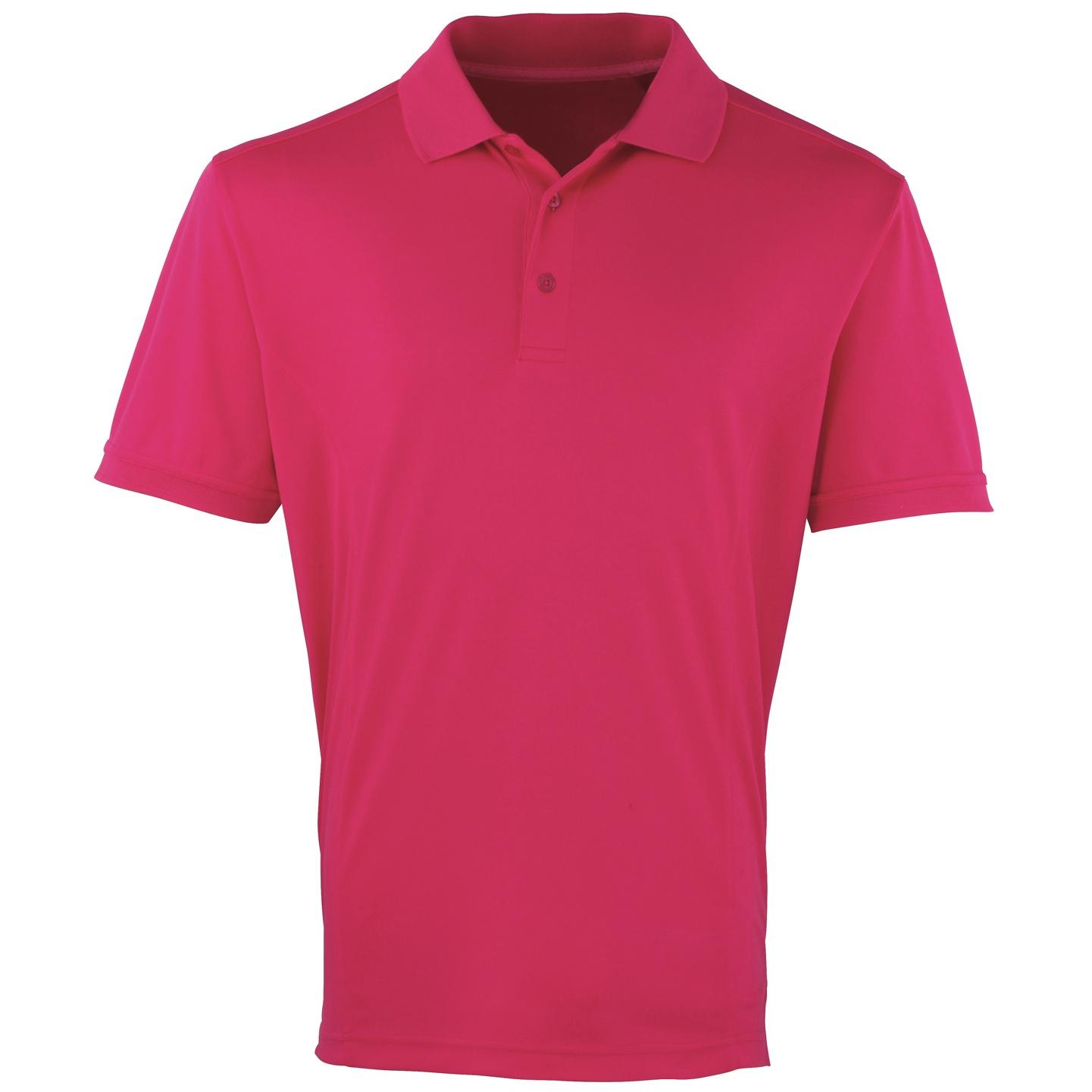 Premier Mens Coolchecker Pique Short Sleeve Polo T-Shirt (XL) (Sapphire)