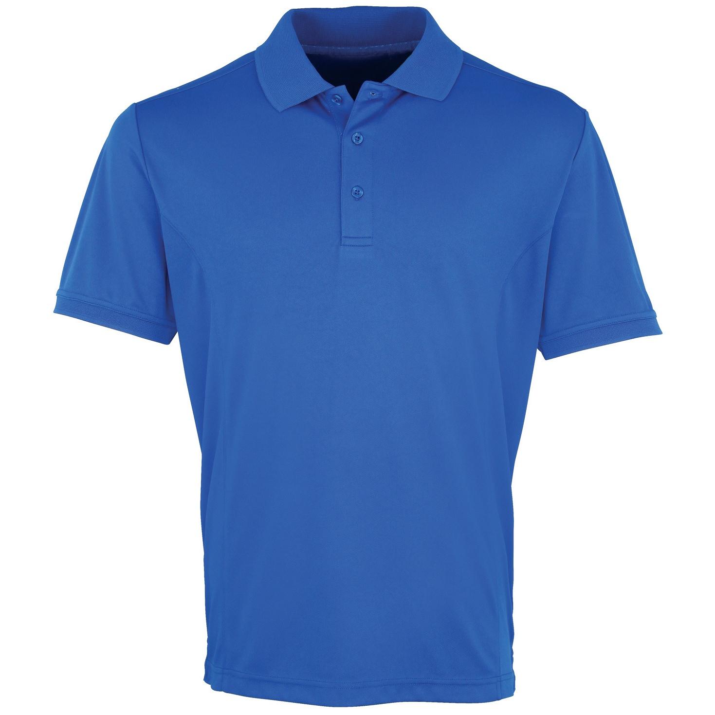 Premier Mens Coolchecker Pique Short Sleeve Polo T-Shirt (L) (Royal)
