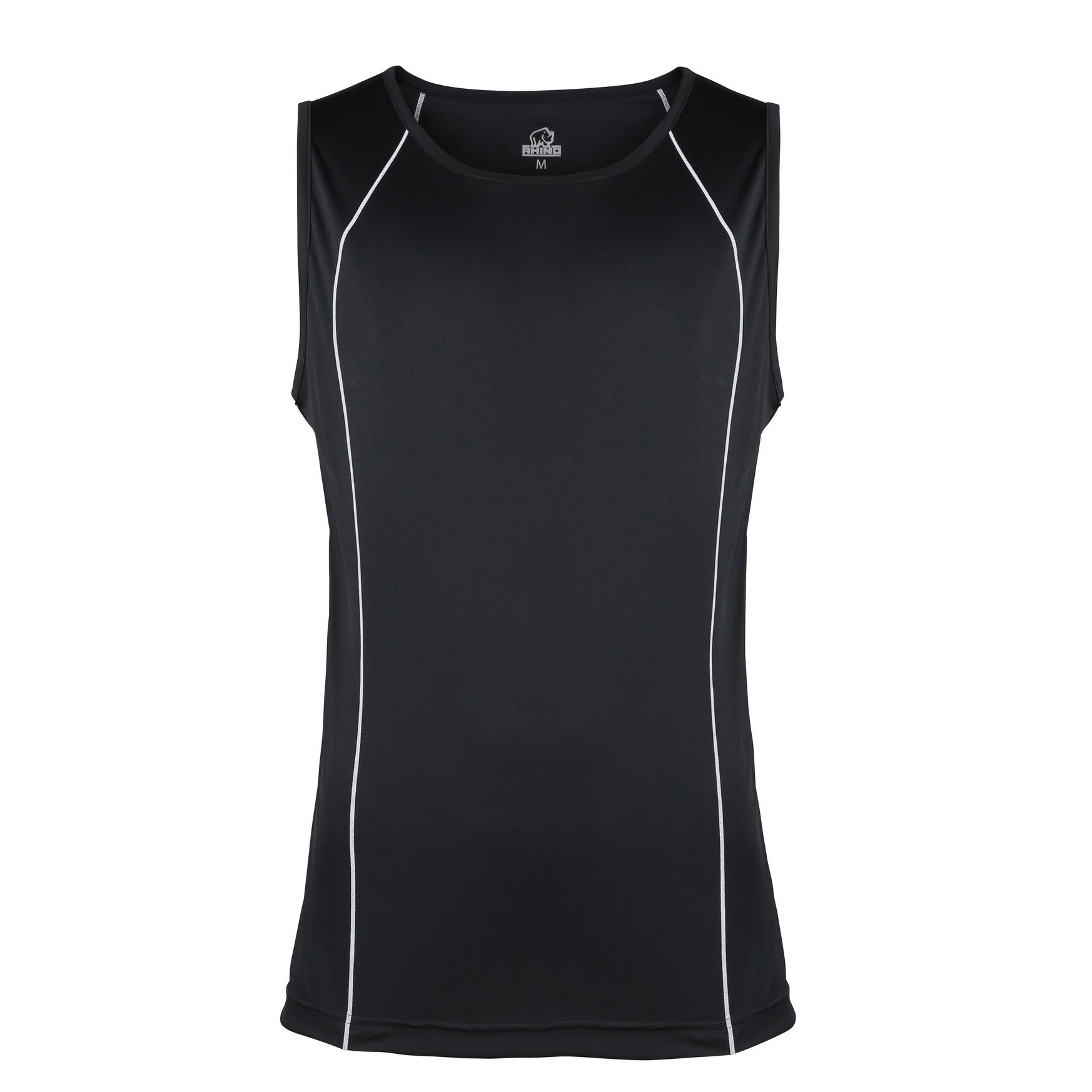 Rhino Mens Rio Sport Rugby Vest (XS) (Black/ White)