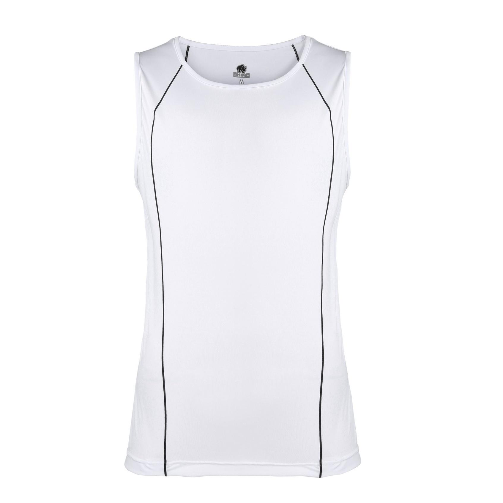 Rhino Mens Rio Sport Rugby Vest (2XL) (White/ Black)