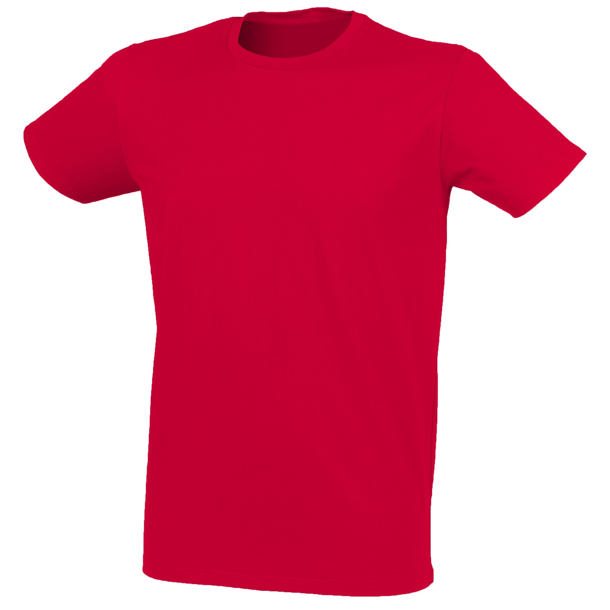 Skinni Fit Men Mens Feel Good Stretch Short Sleeve T-Shirt (S) (Heather Red)