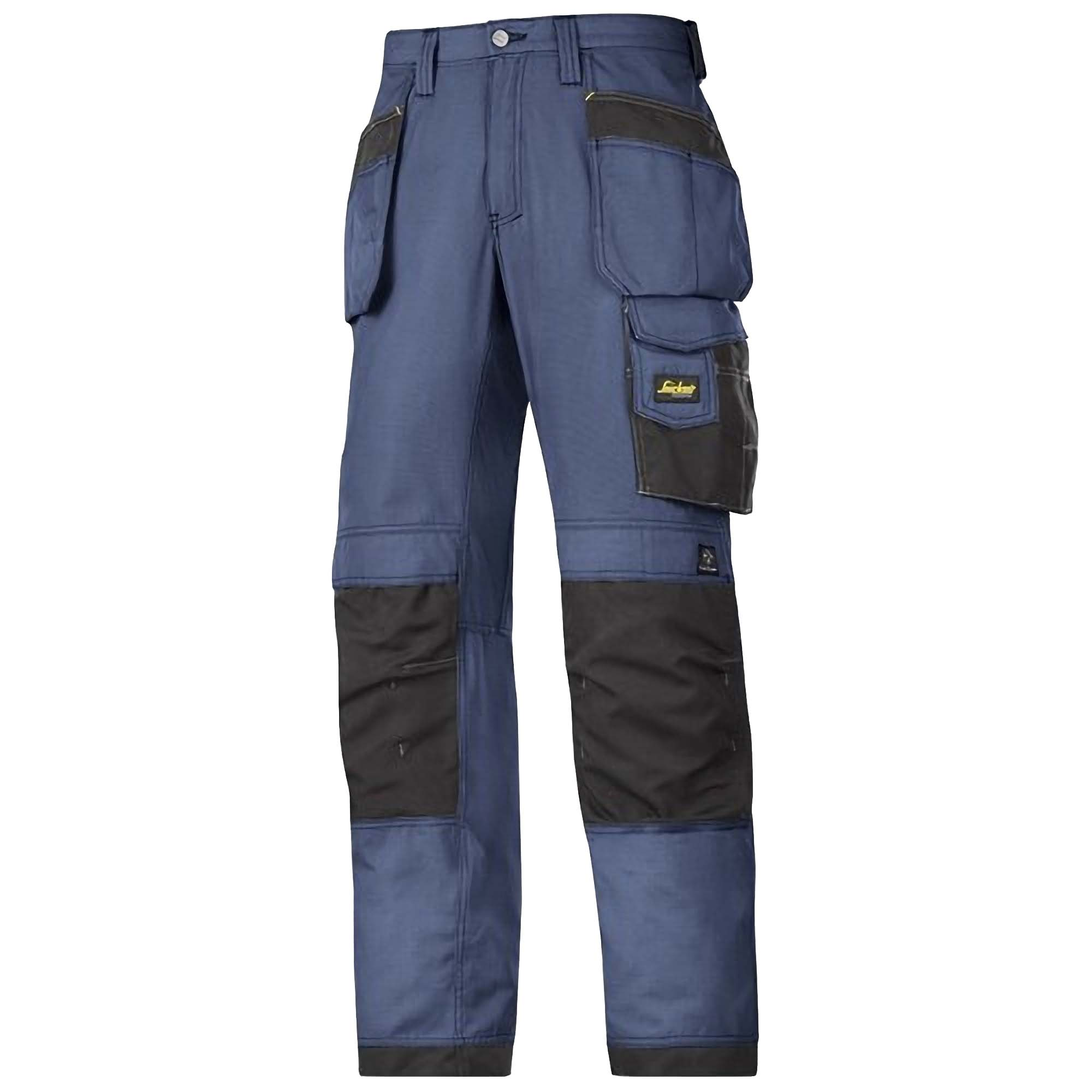 Snickers Mens Ripstop Workwear Trousers (36R) (Navy/ Black)