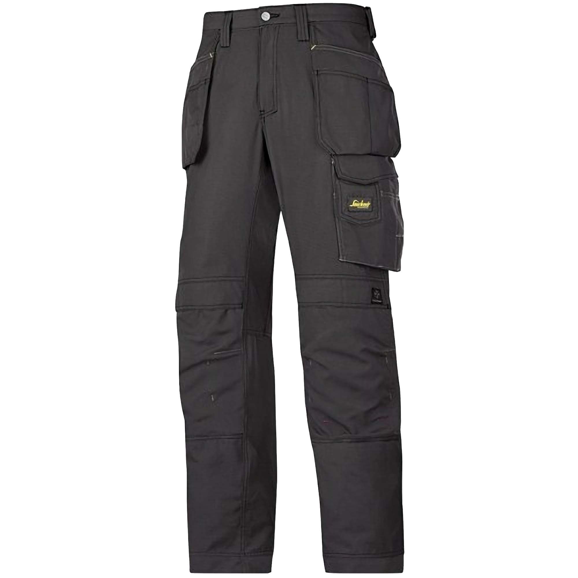 Snickers Mens Ripstop Workwear Trousers (38S) (Black/ Black)
