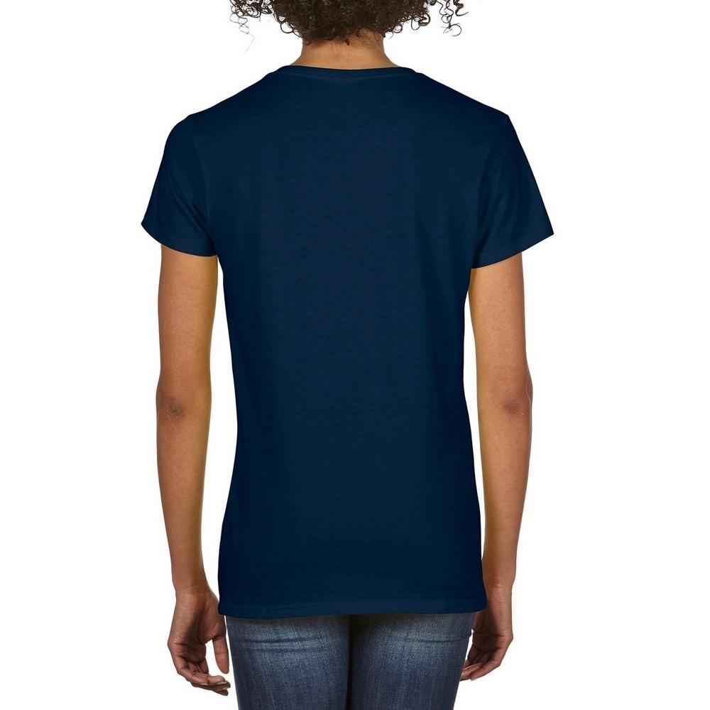 Gildan womens ladies premium cotton v neck plain basic for Premium plain t shirts