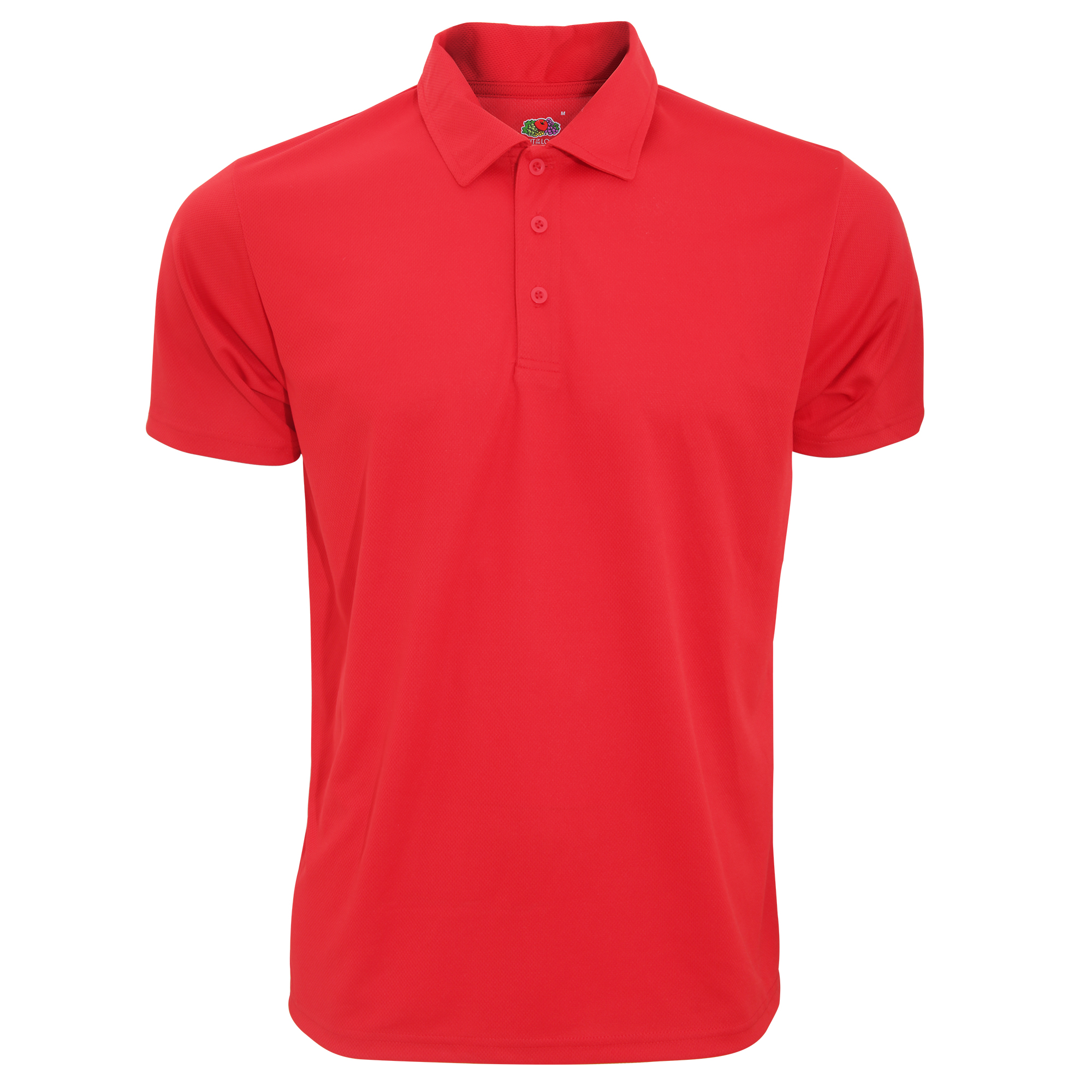 Fruit Of The Loom Mens Moisture Wicking Short Sleeve Performance Polo Shirt (S) (Red)