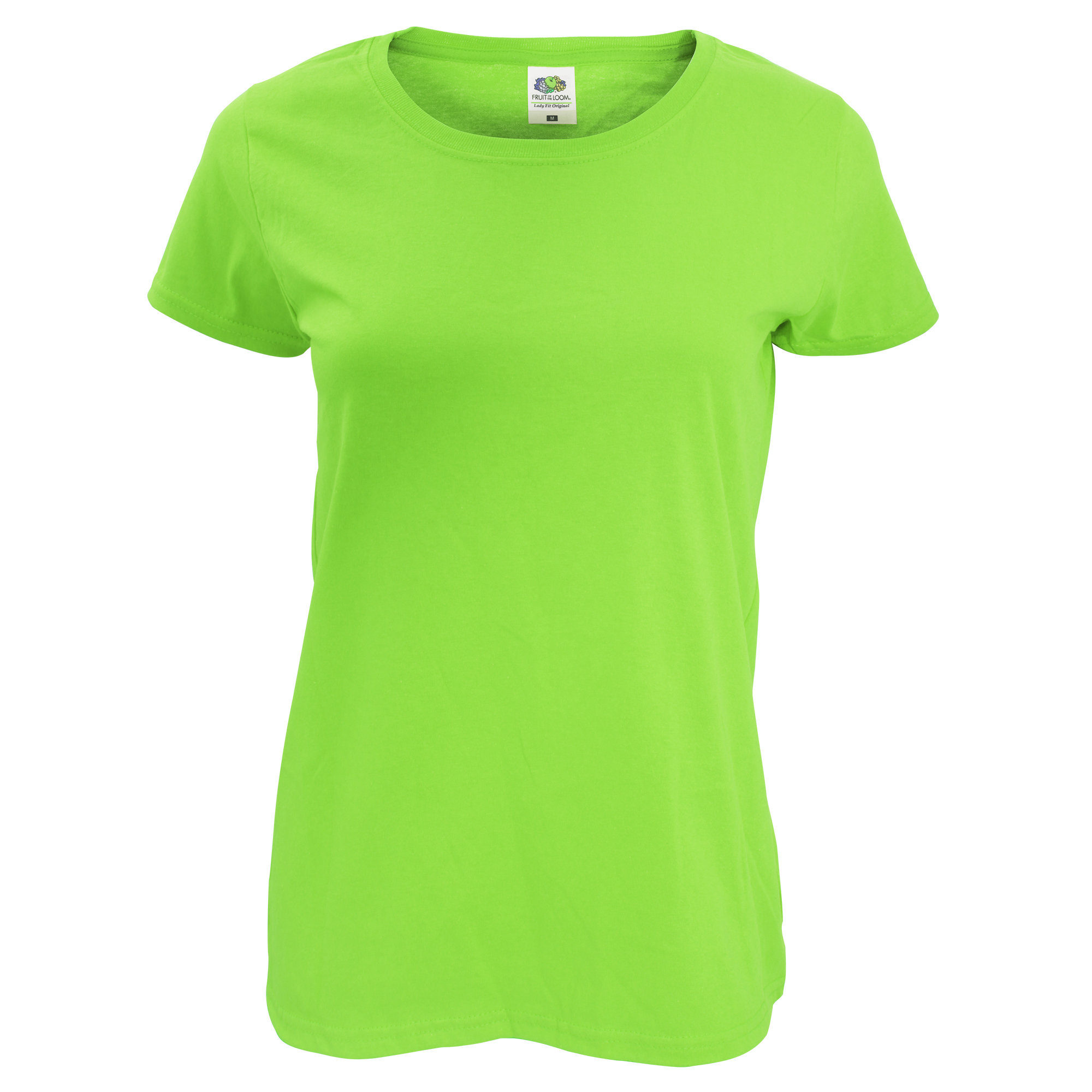 Fruit Of The Loom Womens/Ladies Short Sleeve Lady-Fit Original T-Shirt (2XL) (Lime)
