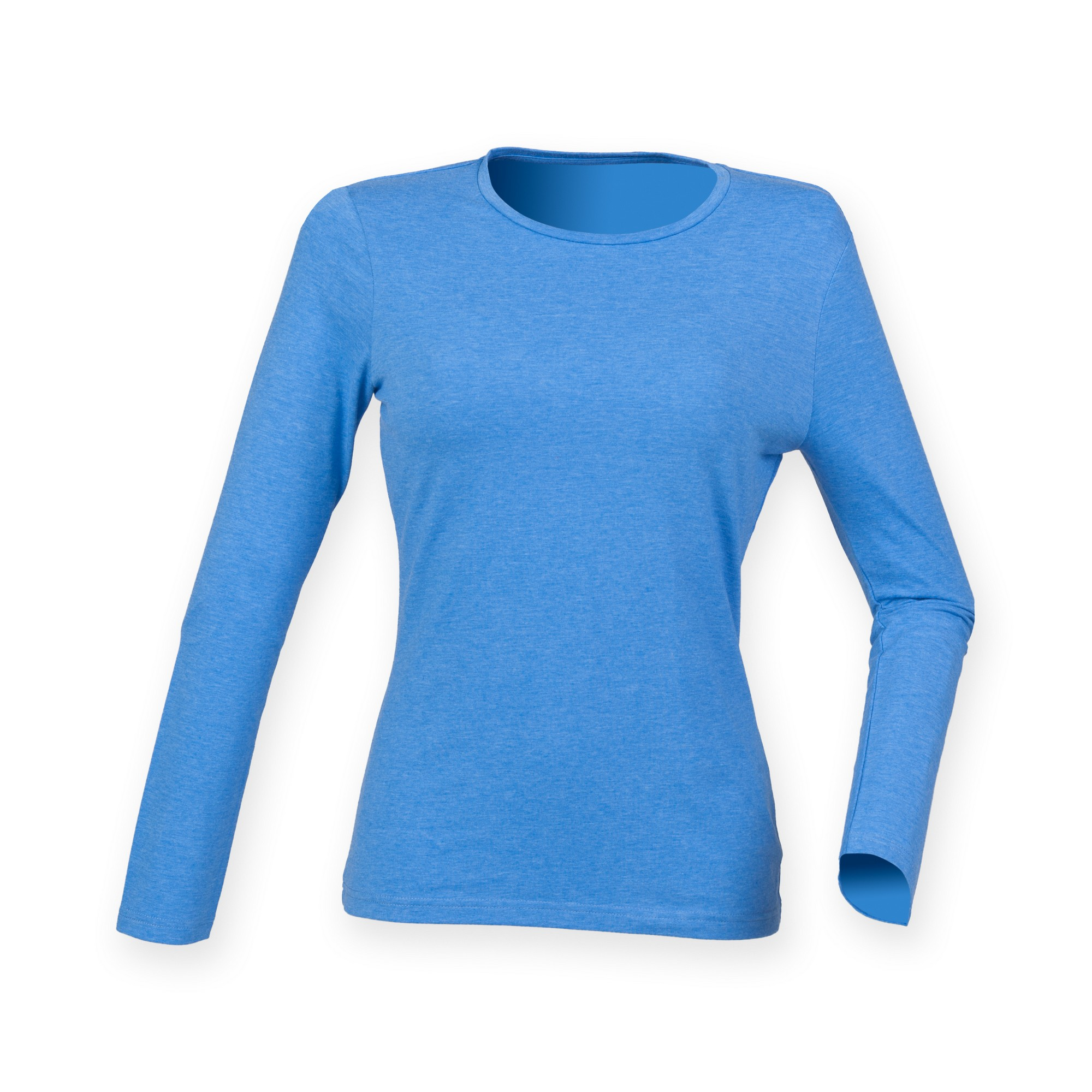 Skinni fit womens ladies feel good stretch long sleeve t for Women s long sleeve fitted t shirts