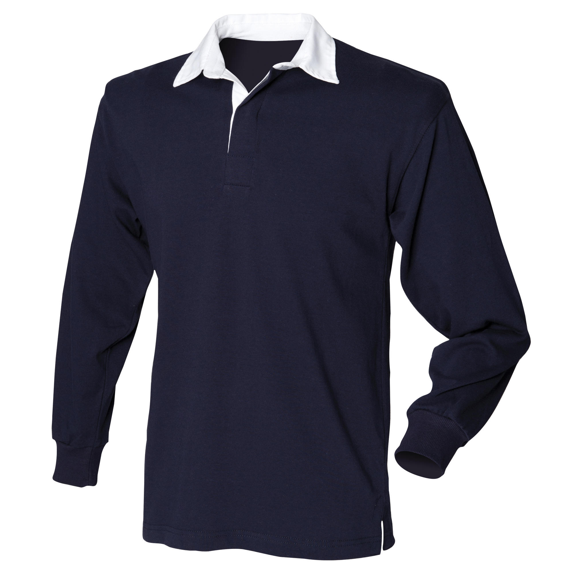 Front Row Mens Long Sleeve Sports Rugby Shirt (XL) (Navy)