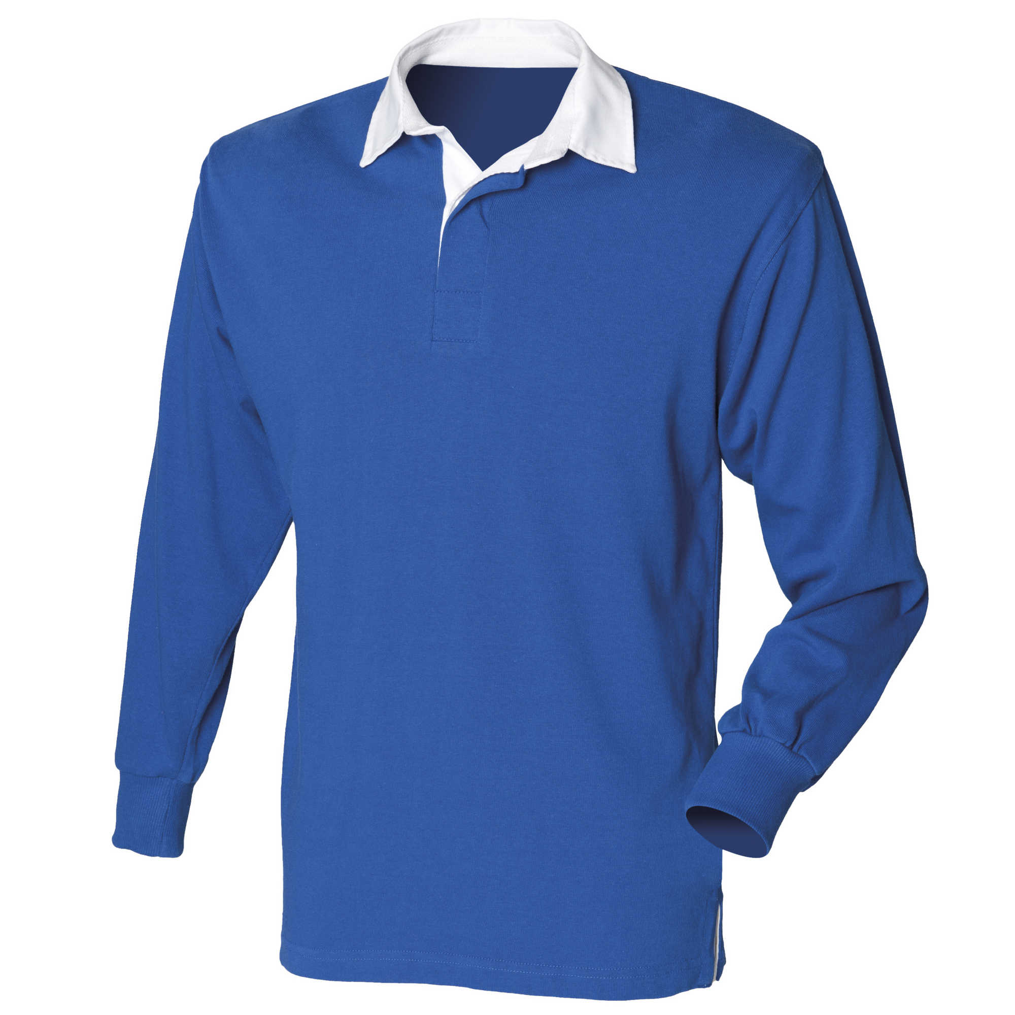 Front Row Mens Long Sleeve Sports Rugby Shirt (S) (Royal)