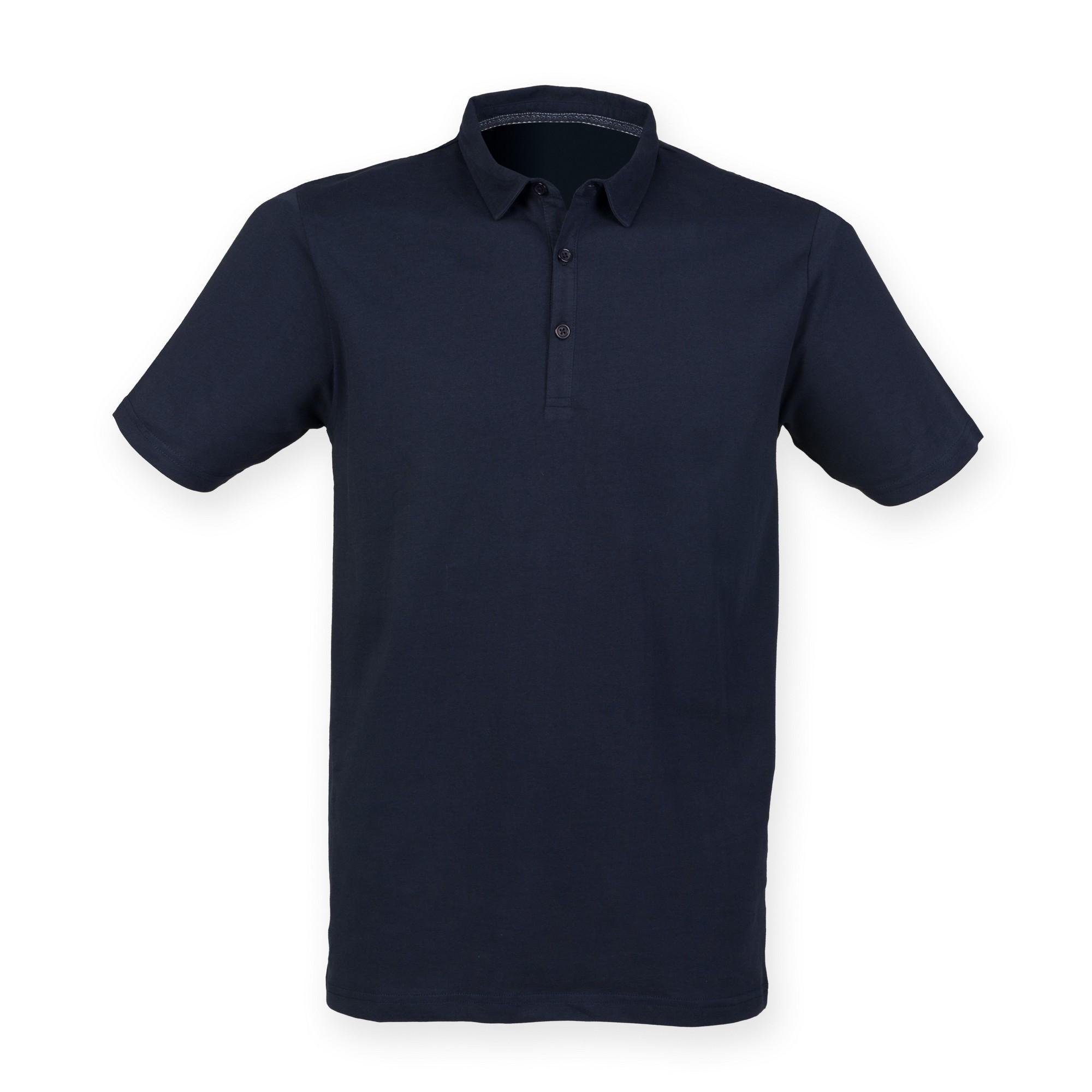 Skinnifit Mens Fashion Short Sleeve Polo Shirt (XL) (Navy)