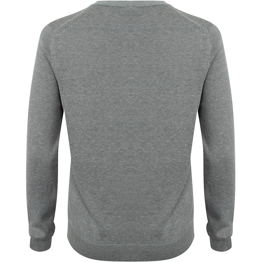 Henbury Womens/Ladies V-Neck Button Up Cardigan (2XL) (Slate Grey Marl)