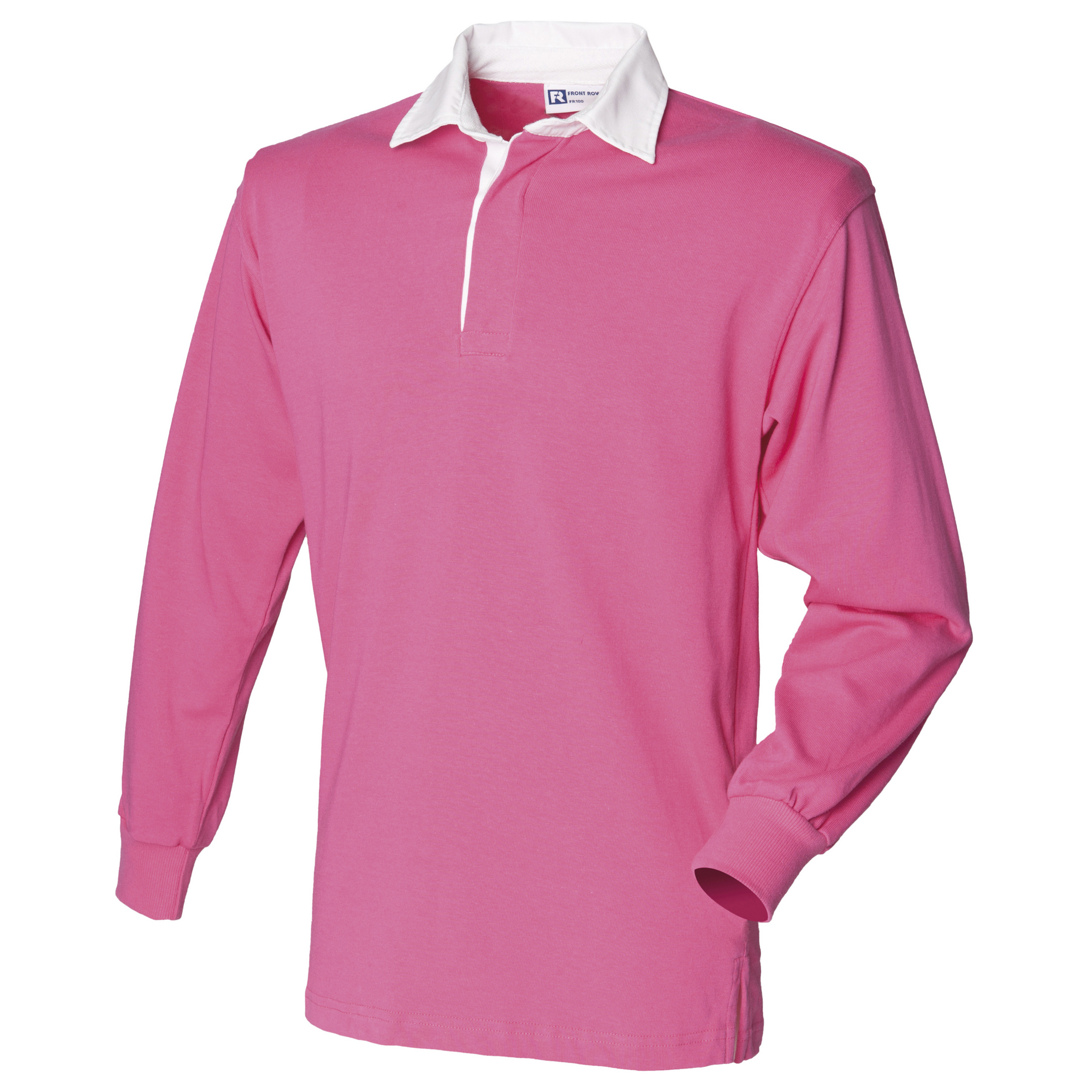 Front-Row-Long-Sleeve-Classic-Rugby-Sports-Cotton-Plain-Polo-Shirt-RW478 thumbnail 2