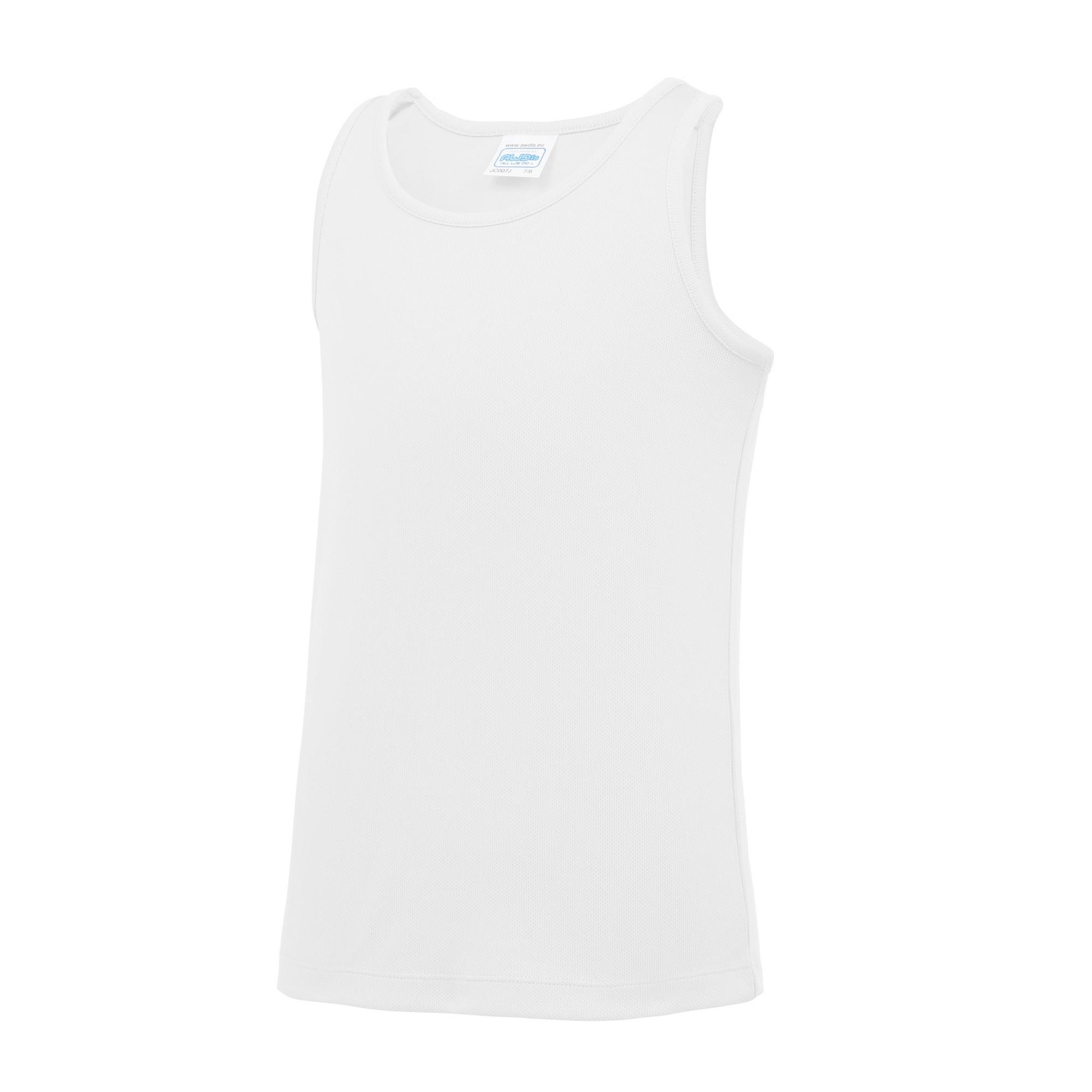 AWDis Childrens//Kids Just Cool Sleeveless Vest Top 5-6 Years Jet Black