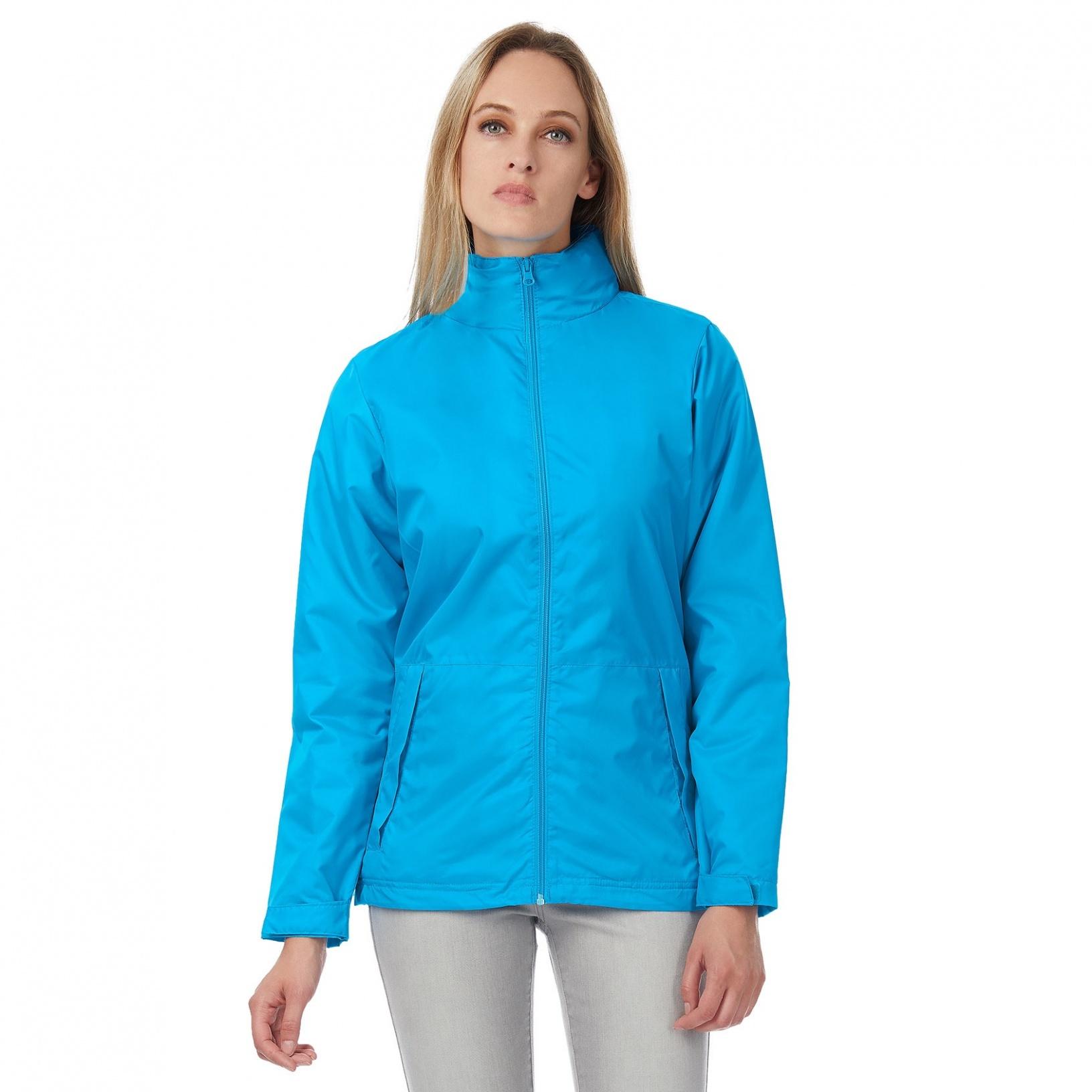 B&C Womens/Ladies Multi Active Hooded Jacket (S) (Black/ Warm Grey)