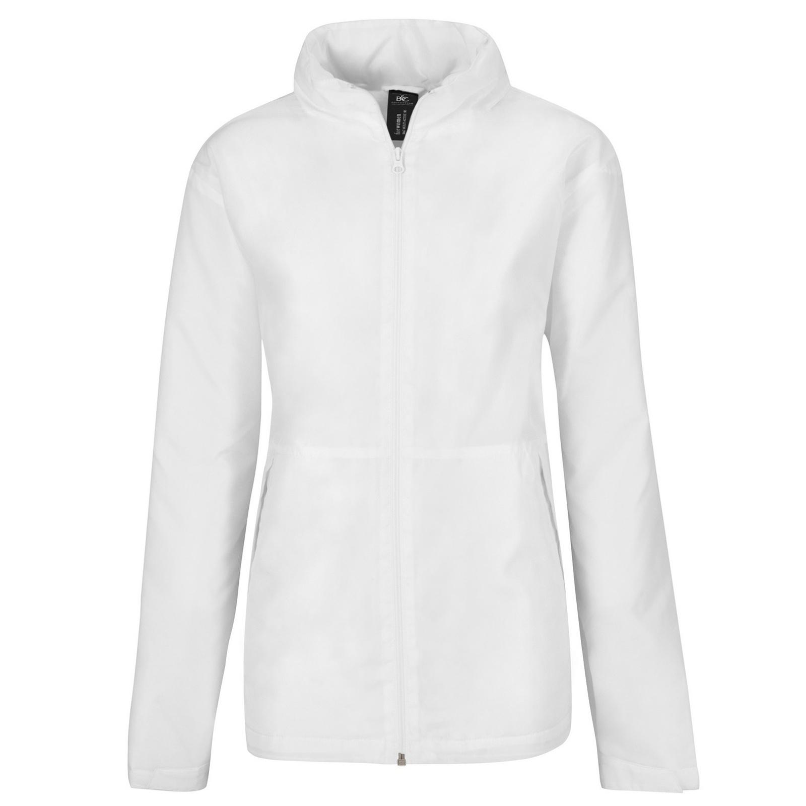 B&C Womens/Ladies Multi Active Hooded Jacket (L) (Navy/ Warm Grey)