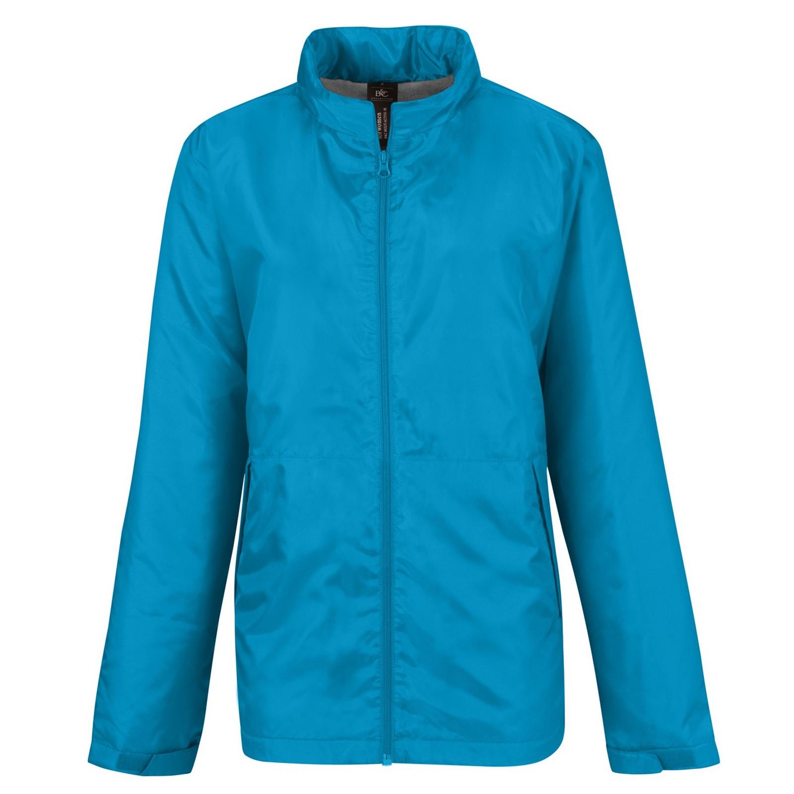 B&C Womens/Ladies Multi Active Hooded Jacket (S) (Atoll/ Warm Grey)