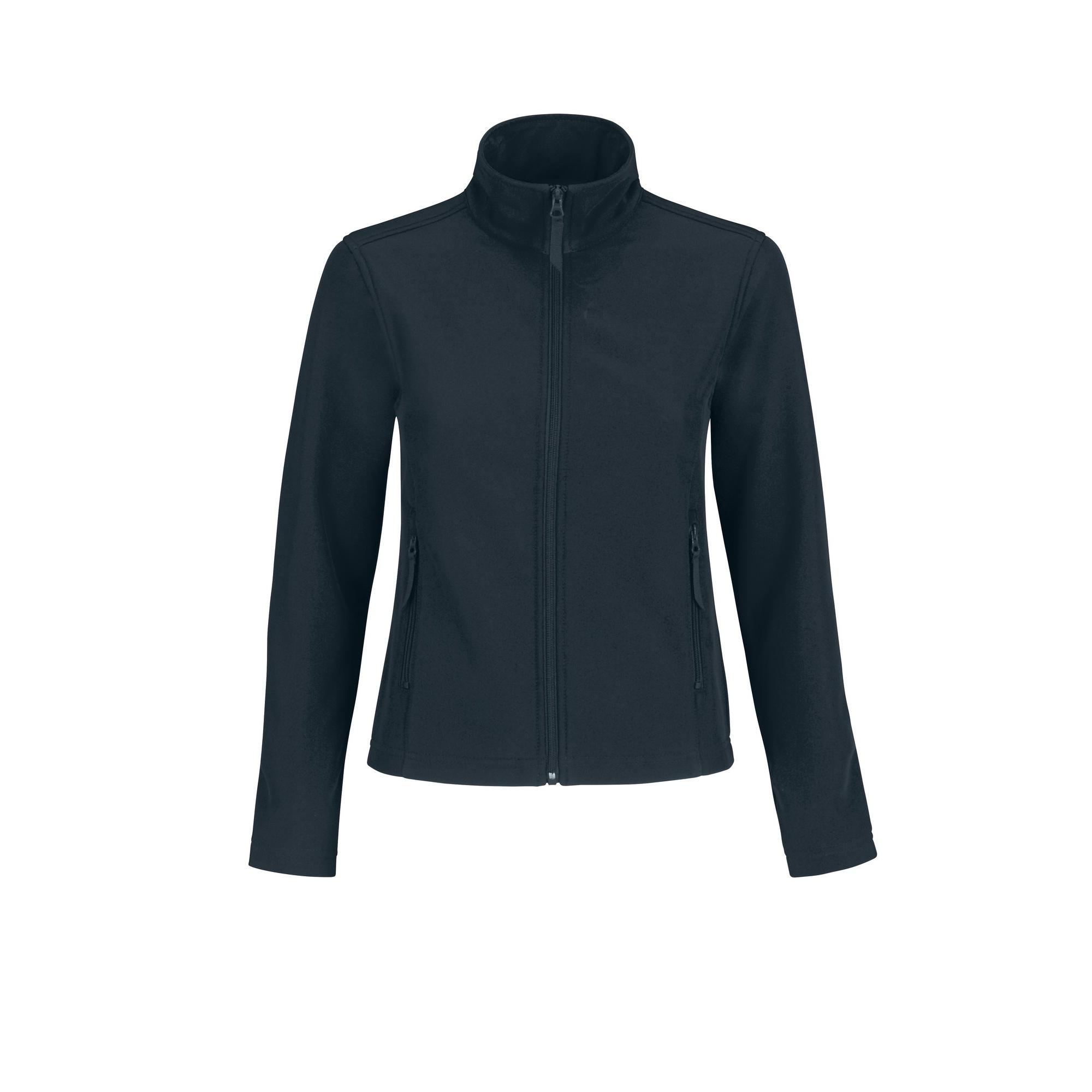 B&C Womens/Ladies Water Repellent Softshell Jacket (2XL) (Navy/ Neon Green)