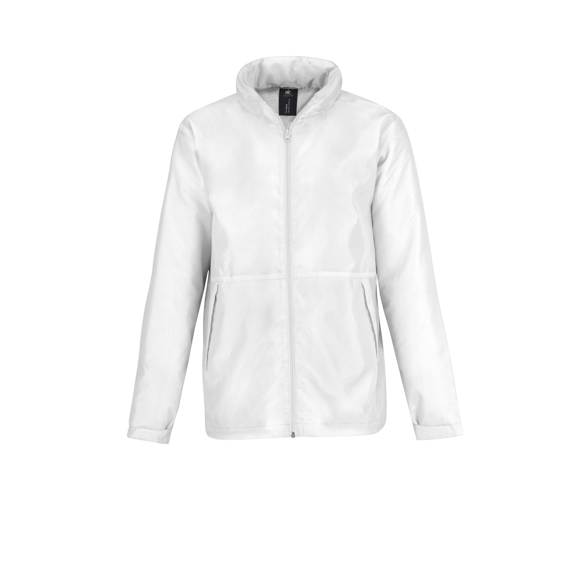B&C Mens Multi Active Hooded Fleece Lined Jacket (2XL) (White/ White)
