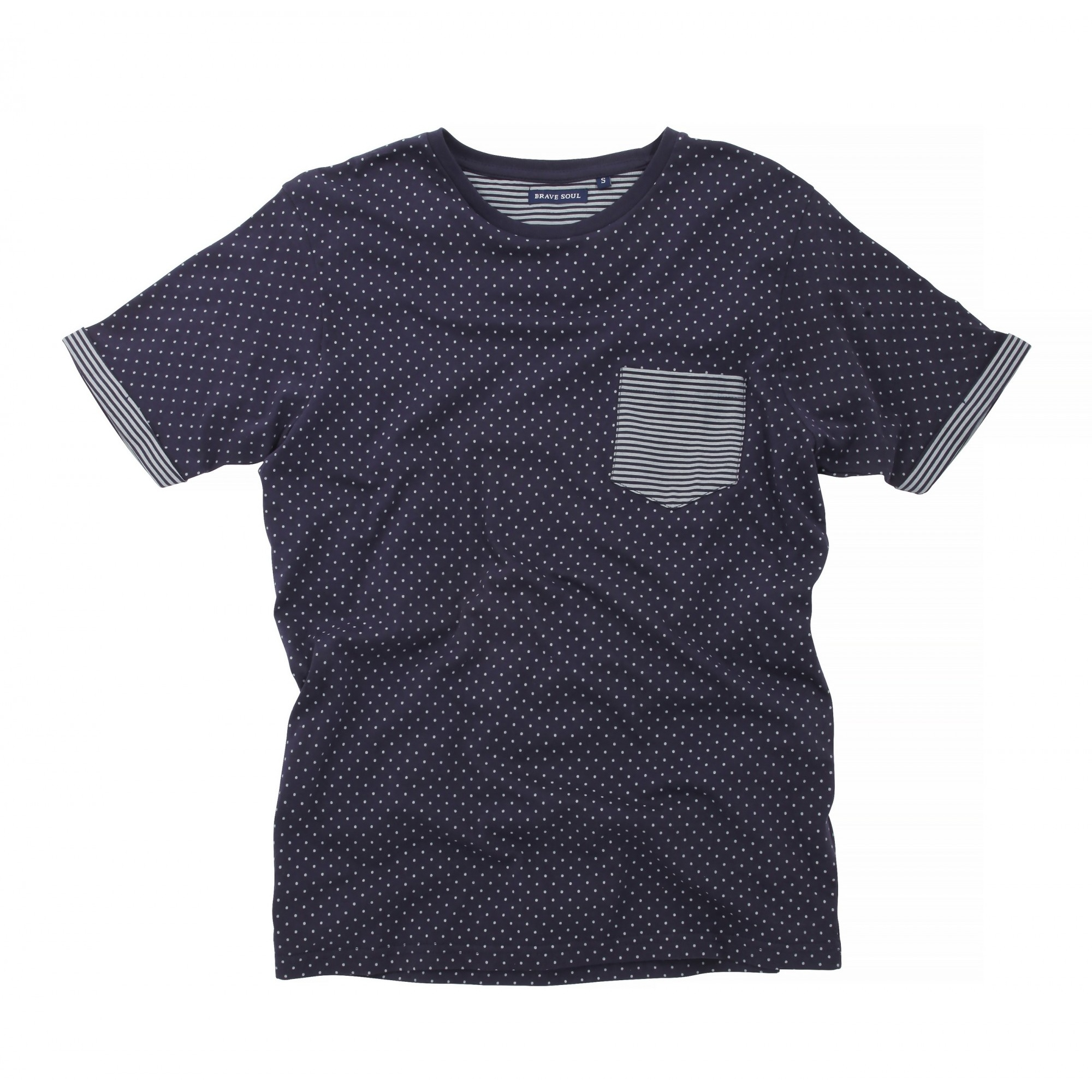Galaxy by Harvic's Short Sleeve Polka Dot Dress Shirt is made up of a special contemporary knit and woven yarn dye blend that maintains the color richness and fabric comfort without compromising the quality or integrity.