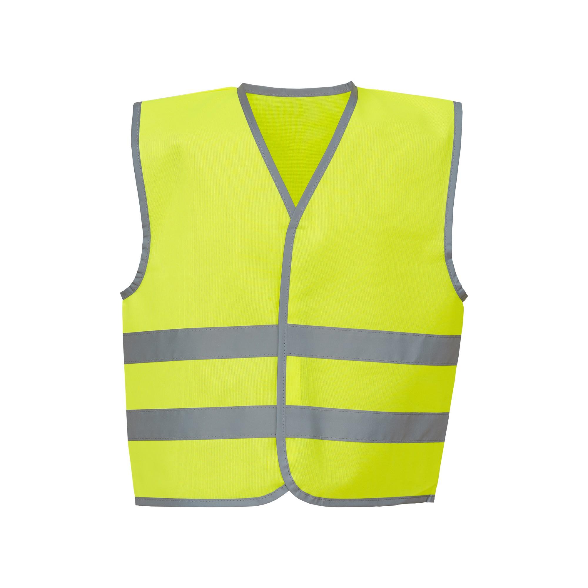 Yoko Hi-Vis Childrens/Kids Reflective Border Waistcoat (M) (Yellow)