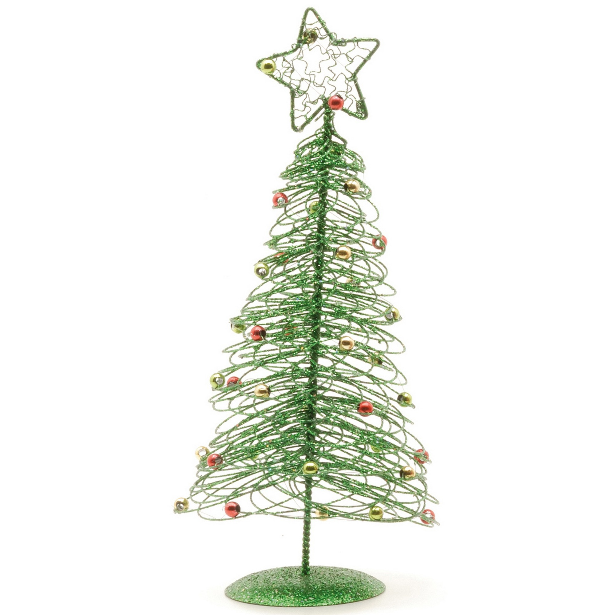 christmas shop spiral wire table top trees ebay. Black Bedroom Furniture Sets. Home Design Ideas