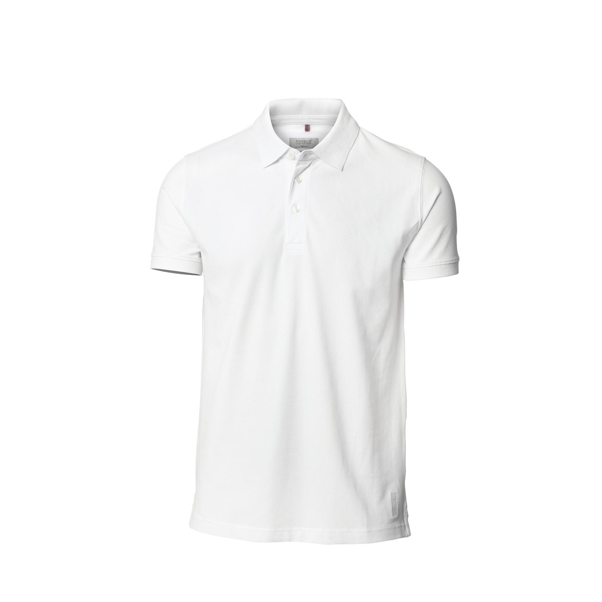 Nimbus Mens Harvard Stretch Deluxe Polo Shirt (M) (White)