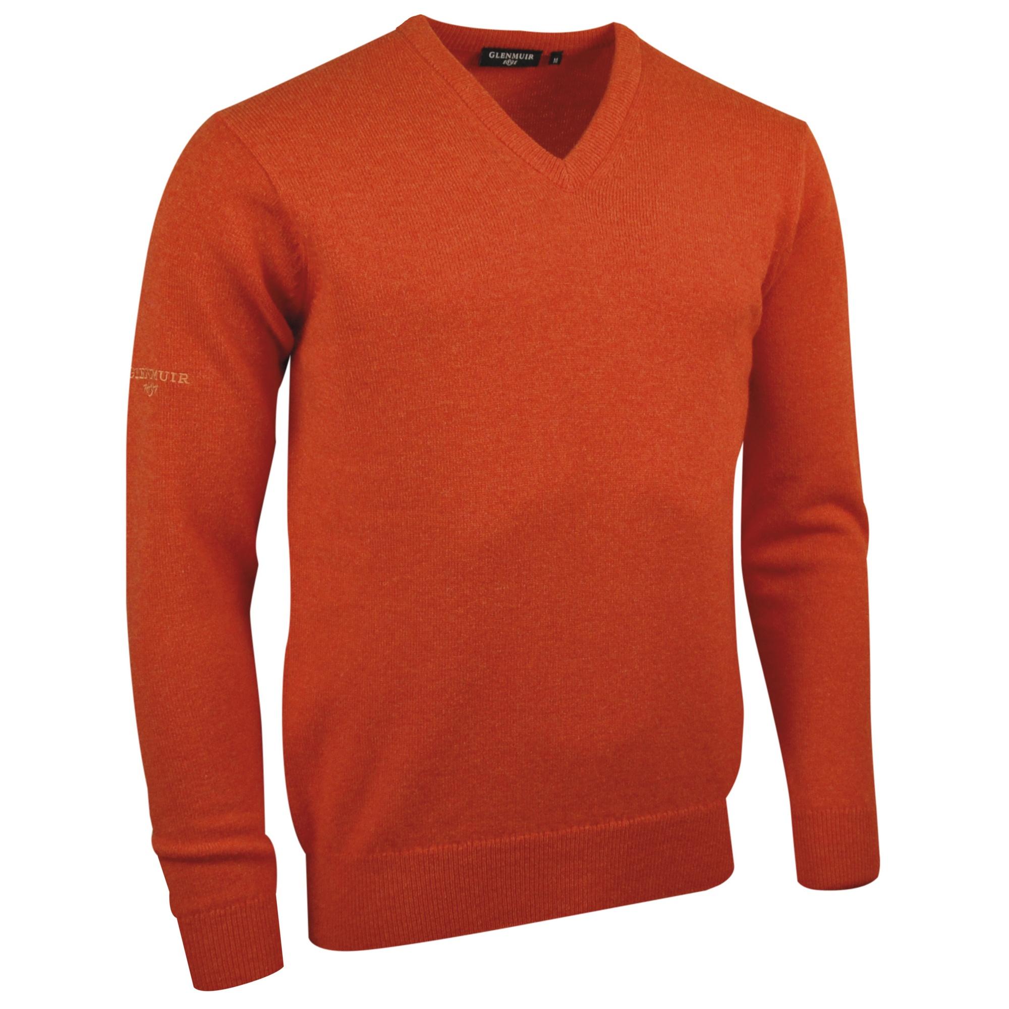 Glenmuir Lomond V-Neck Lambswool Sweater / Knitwear (XL) (Bottle Green)
