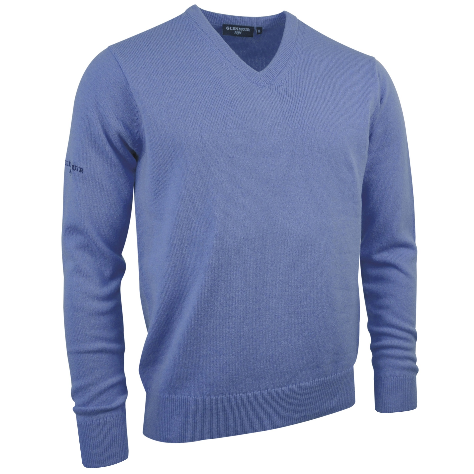 Glenmuir-Lomond-V-Neck-Lambswool-Sweater-Knitwear-RW515